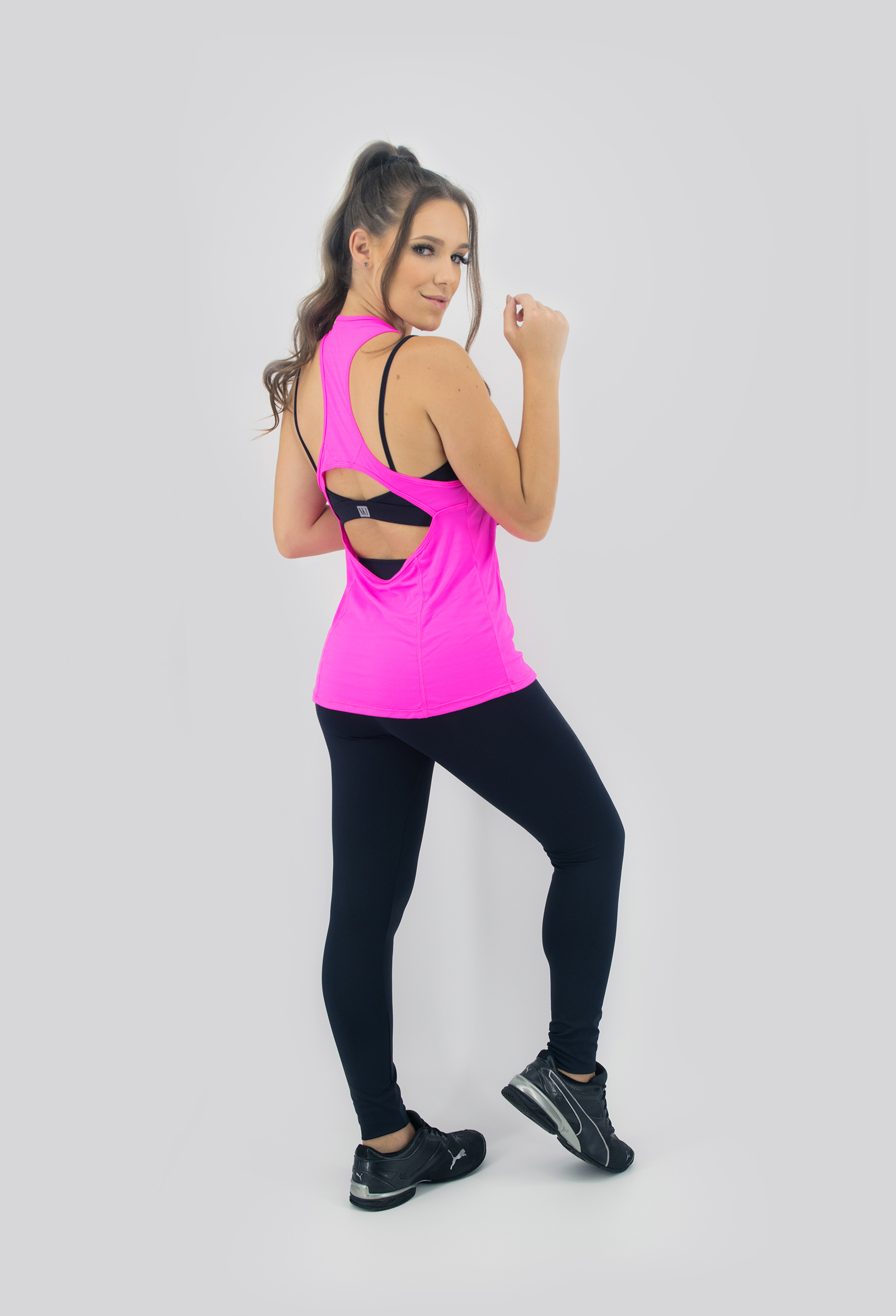 Regata Clipping Pink, Coleção Move Your Body - NKT Fitwear Moda Fitness