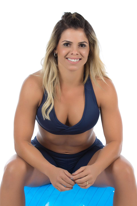 Shorts NKT Marinho, Coleção Mulheres Reais - NKT Fitwear Moda Fitness