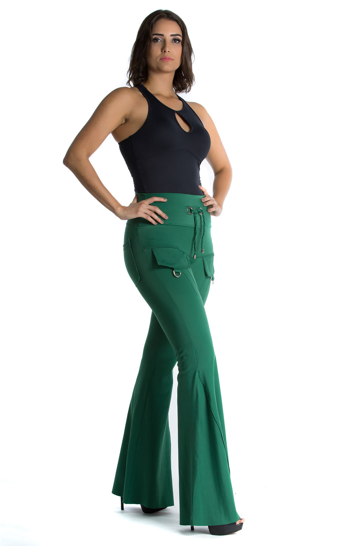 Max Flare Reality Verde, Coleção Mulheres Reais - NKT Fitwear Moda Fitness