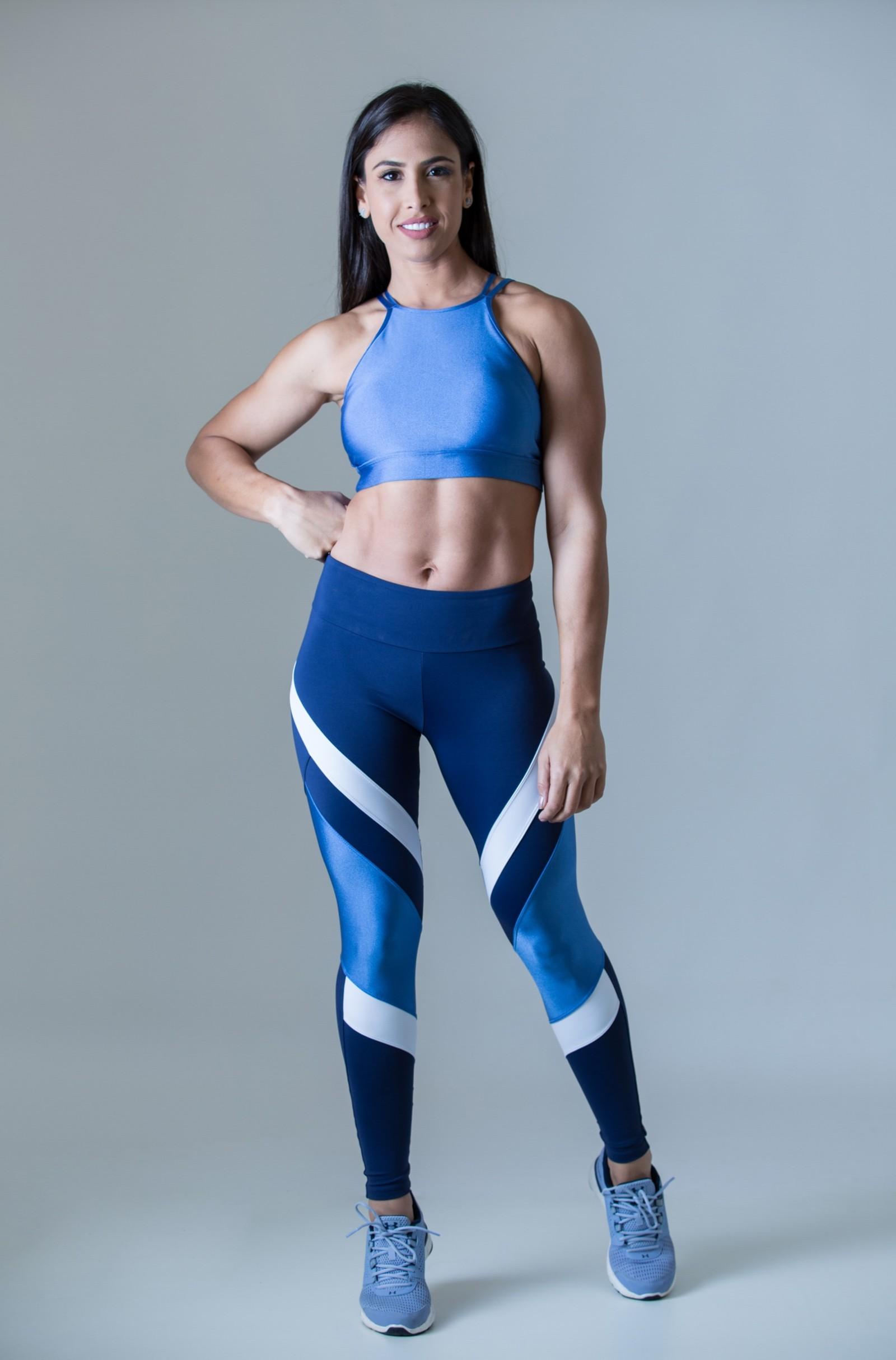 Cropped Absolute Azul, Coleção Plenitude - NKT Fitwear Moda Fitness