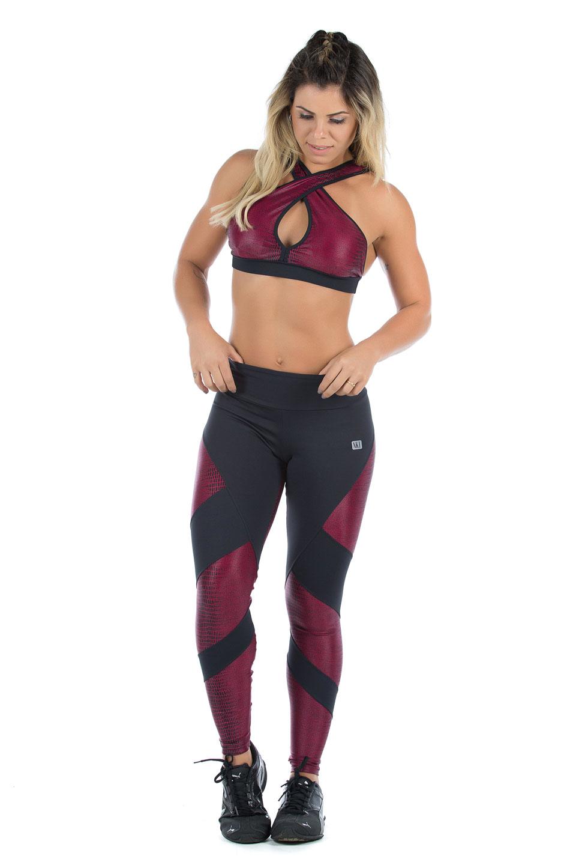 Top Fearless Marsala, Coleção Mulheres Reais - NKT Fitwear Moda Fitness
