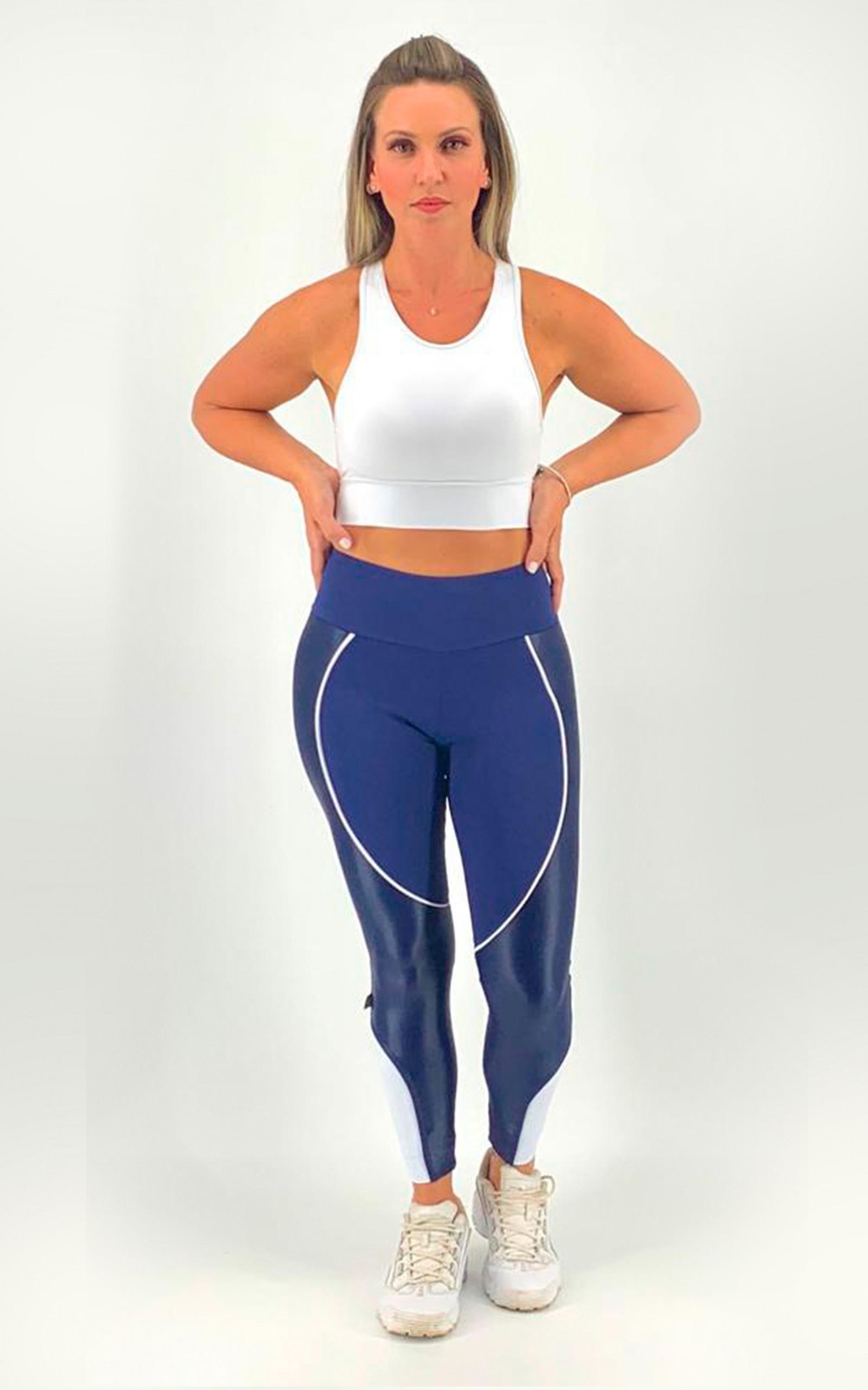 Legging Circle Marinho, Coleção Move Your Body - NKT Fitwear Moda Fitness