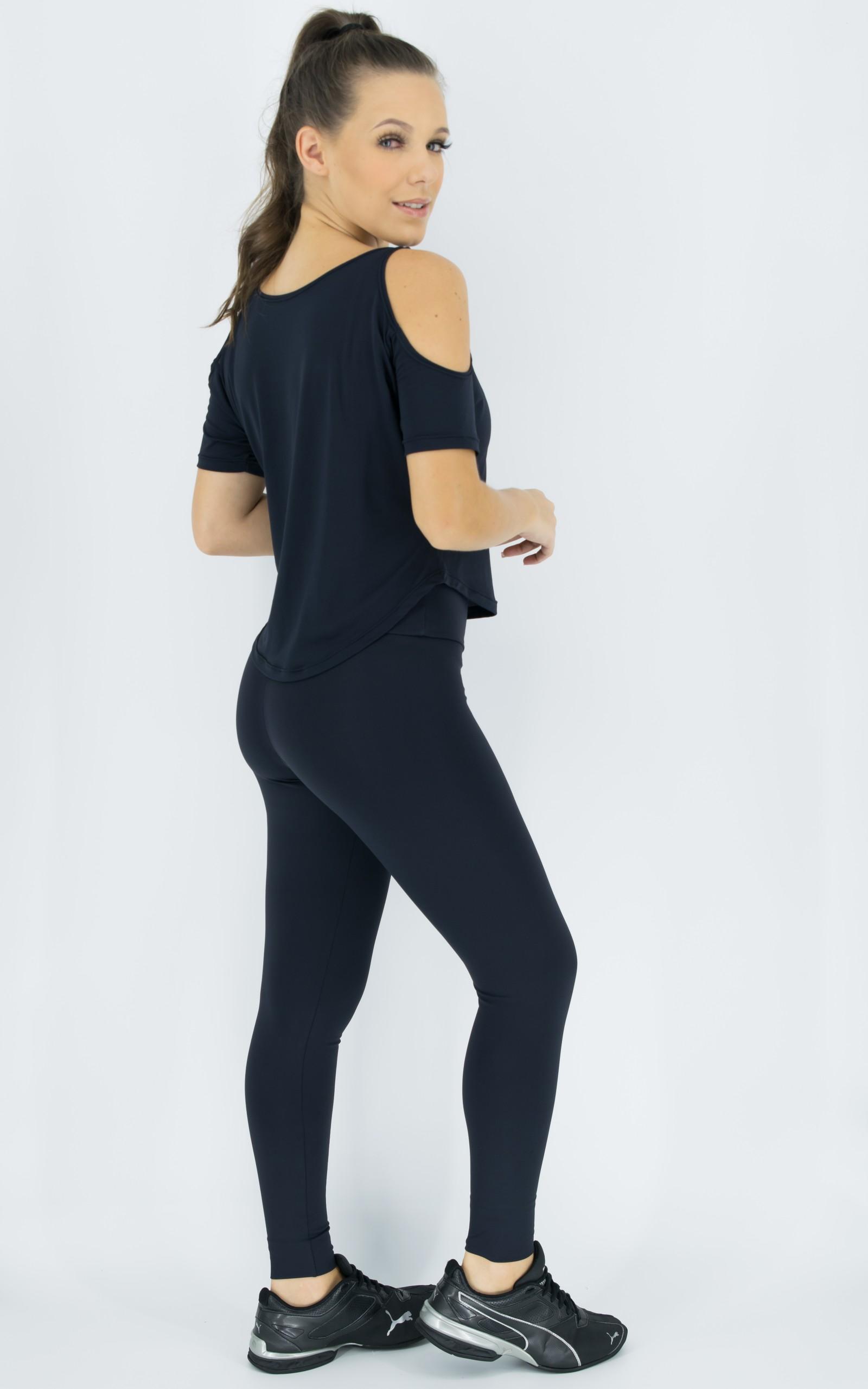 Blusa Like Preta, Coleção Move Your Body - NKT Fitwear Moda Fitness