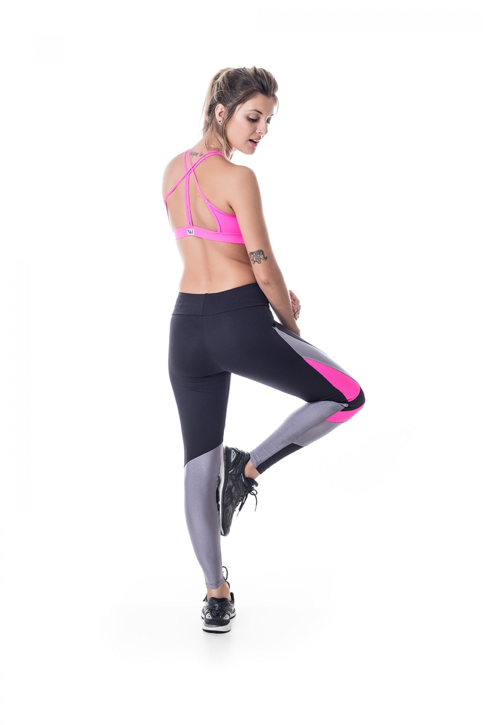 Legging Bring Pink, Coleção Challenge - NKT Fitwear Moda Fitness