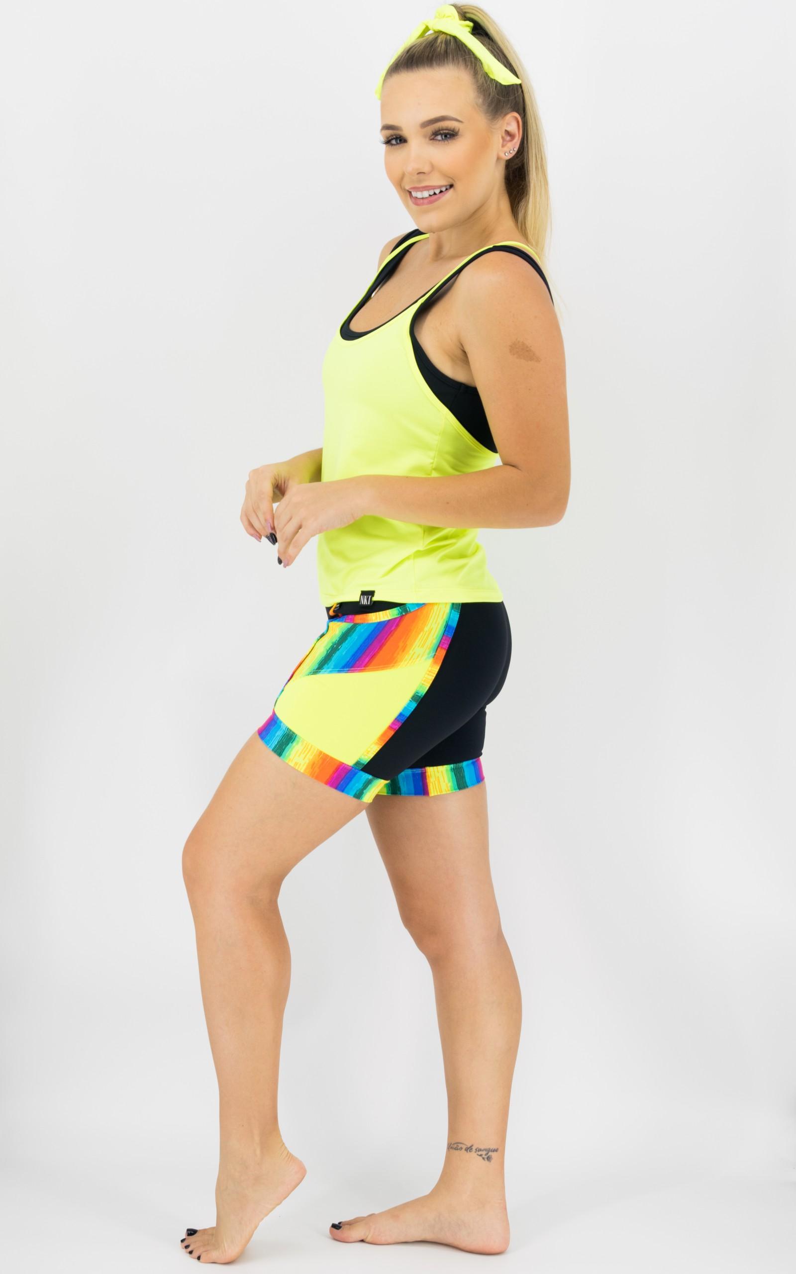Bermuda Experience Arco-Íris, Coleção Move Your Body - NKT Fitwear Moda Fitness