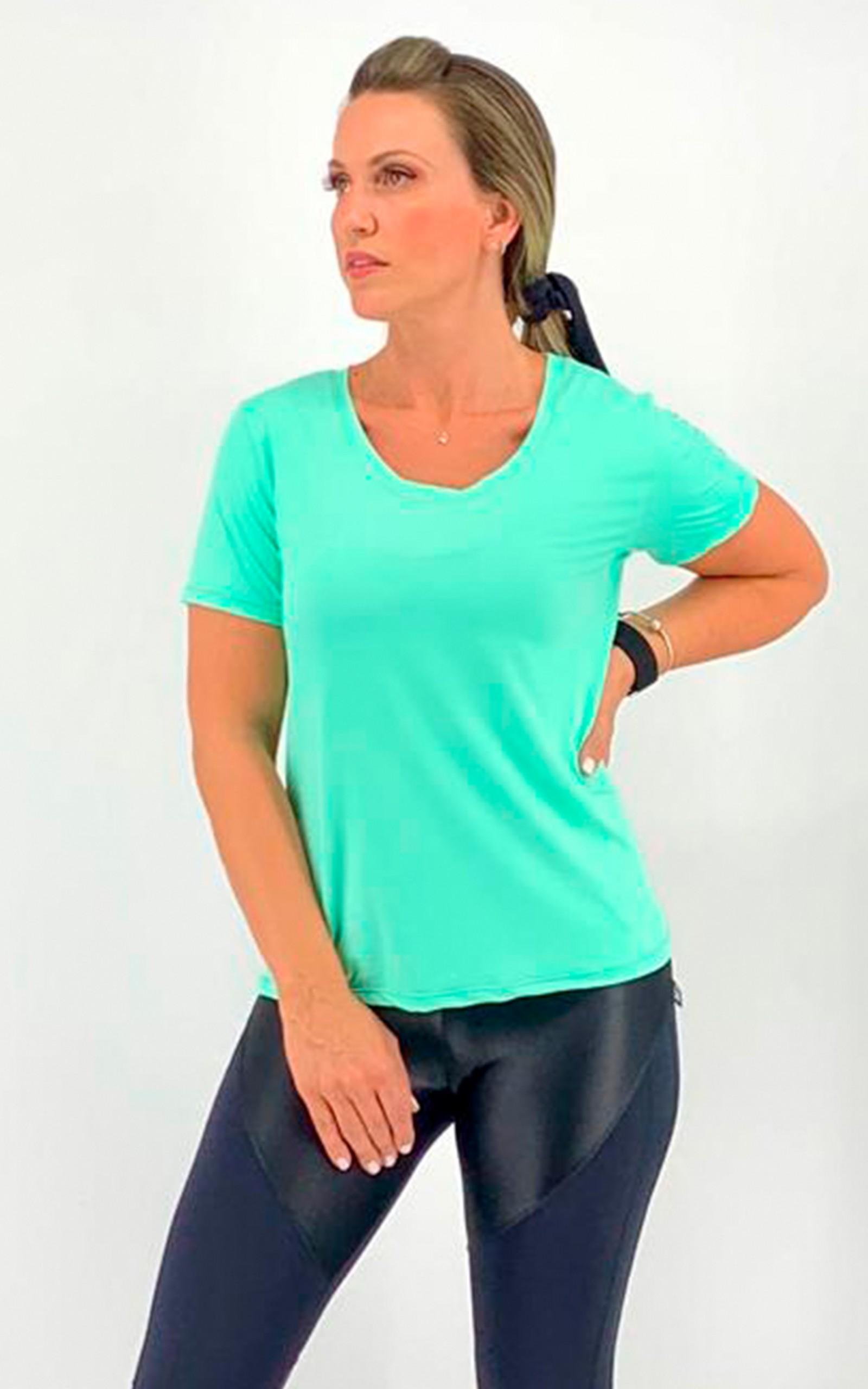 Baby Look Spice Dry Menta, Coleção Move Your Body - NKT Fitwear Moda Fitness