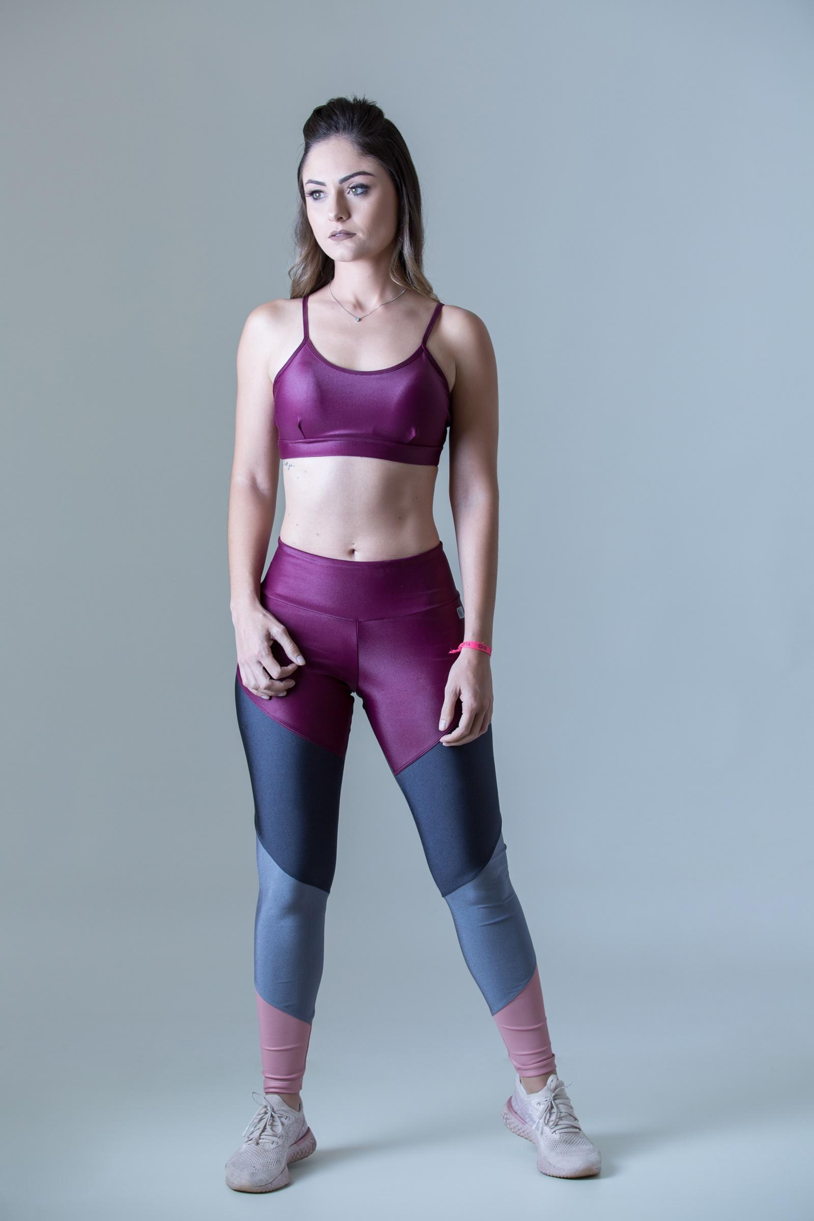 Legging Profusion Rosa Bocca, Coleção Plenitude - NKT Fitwear Moda Fitness