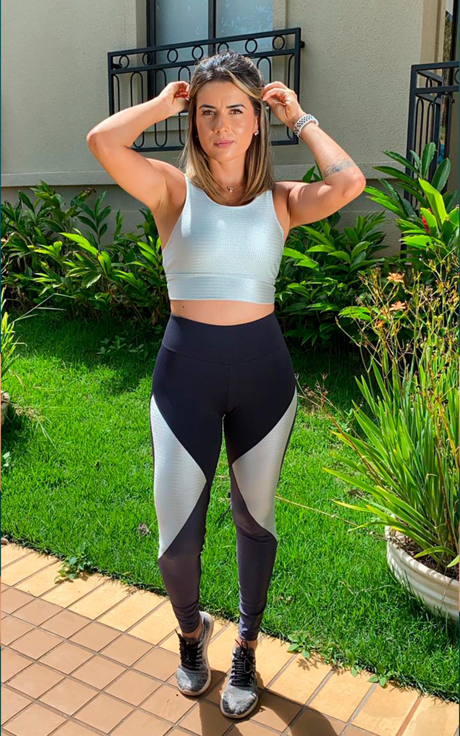 Legging Female Power Prata, Coleção Move Your Body - NKT Fitwear Moda Fitness