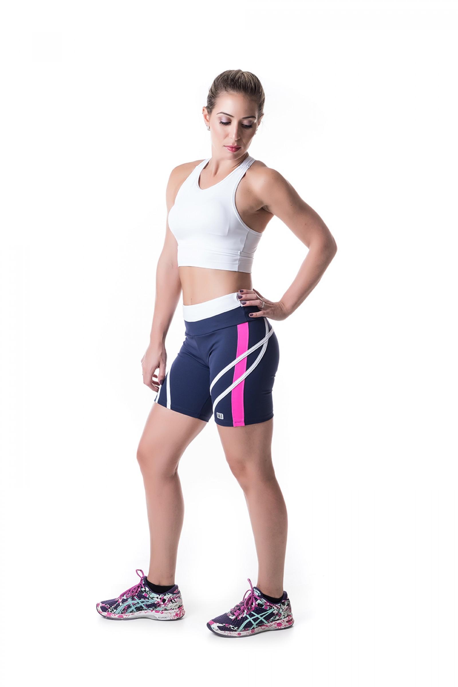 Bermuda Transform Marinho, Coleção Challenge - NKT Fitwear Moda Fitness