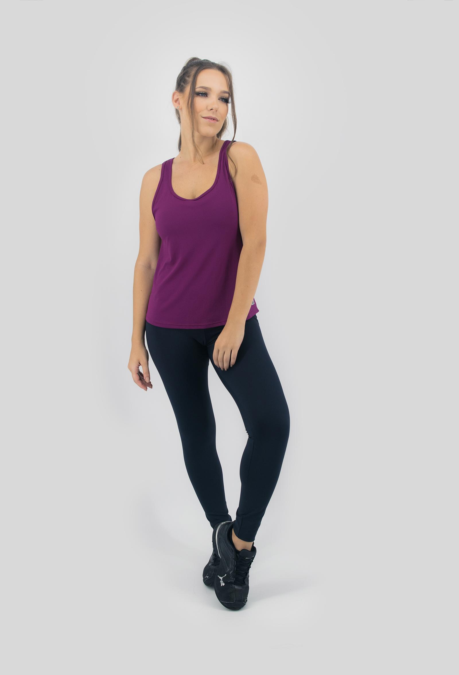 Regata Lux Vinho, Coleção Move Your Body - NKT Fitwear Moda Fitness