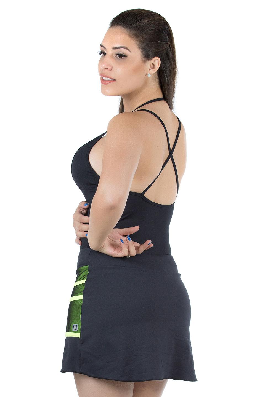 Saia Shorts Conceito Amarelo Neon, Coleção Mulheres Reais - NKT Fitwear Moda Fitness