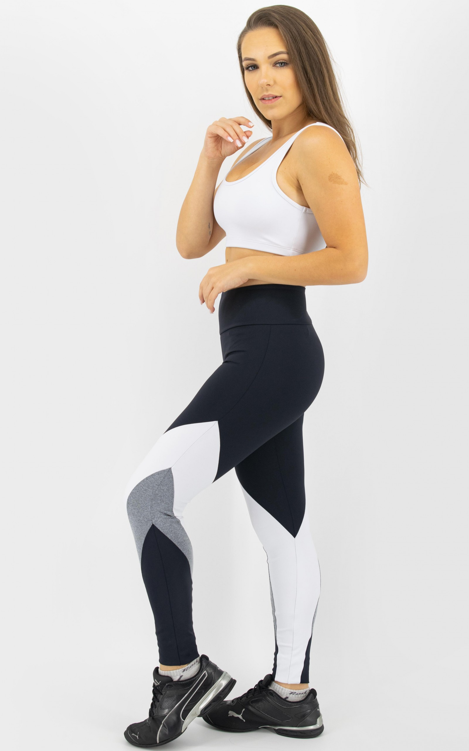 Top Arrow Branco, Coleção Move Your Body - NKT Fitwear Moda Fitness