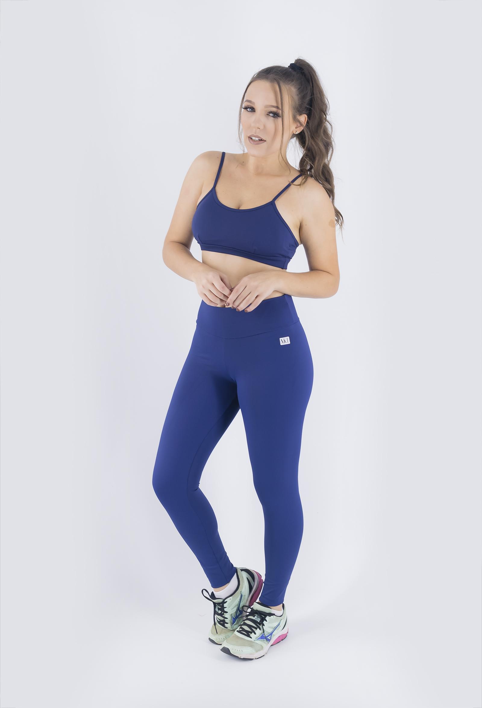 Legging NKT Marinho, Coleção Just For You - NKT Fitwear Moda Fitness