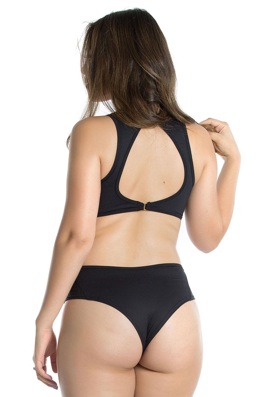 Body Determined Preto, Coleção Mulheres Reais - NKT Fitwear Moda Fitness