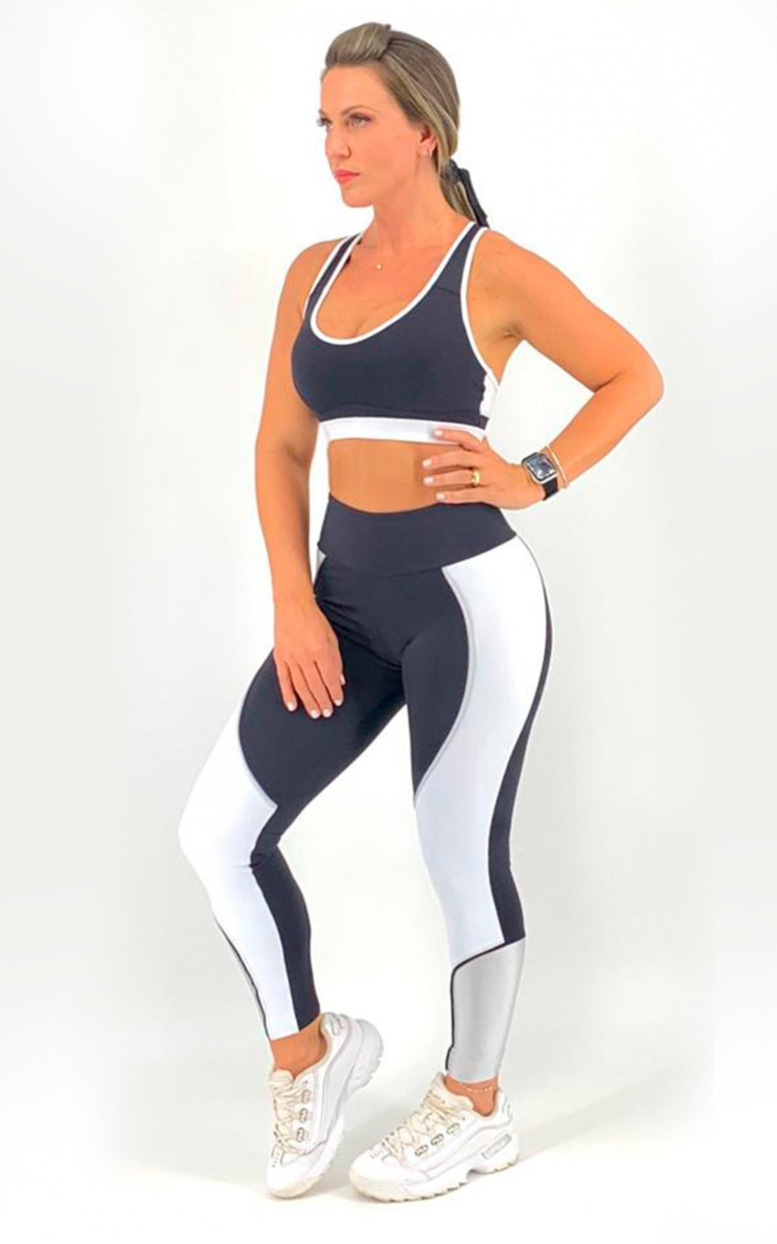 Legging Circle Branca, Coleção Move Your Body - NKT Fitwear Moda Fitness