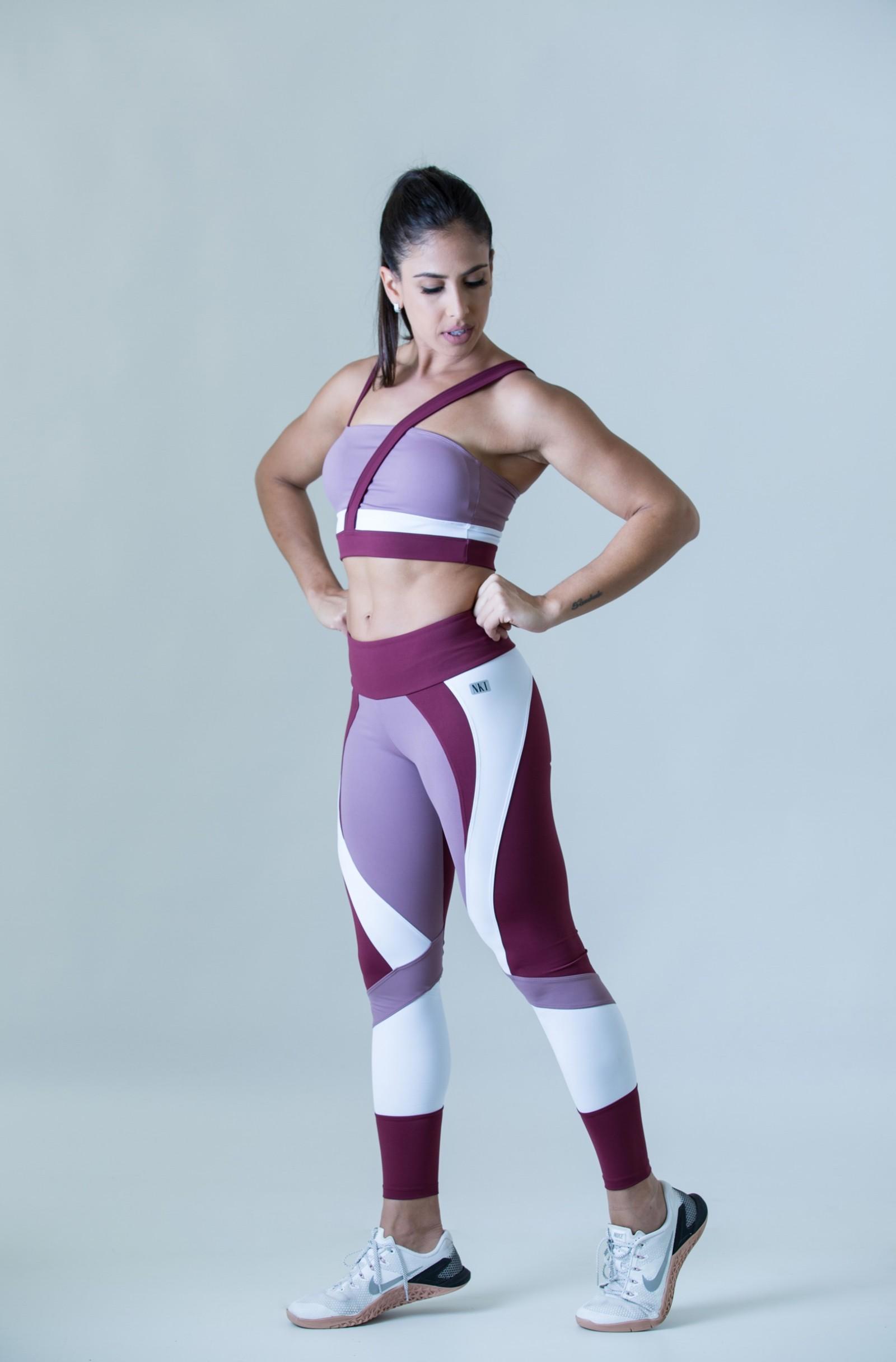 Legging Fullness Rosê, Coleção Plenitude - NKT Fitwear Moda Fitness