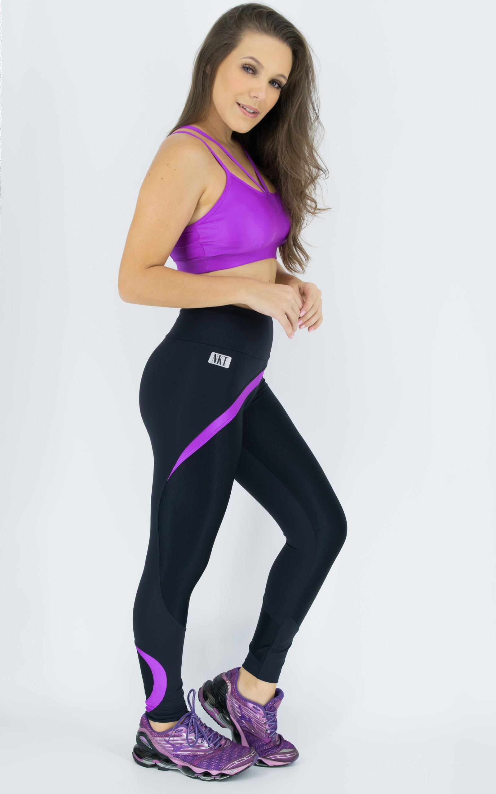 Legging Ocean Roxa, Coleção Move Your Body - NKT Fitwear Moda Fitness