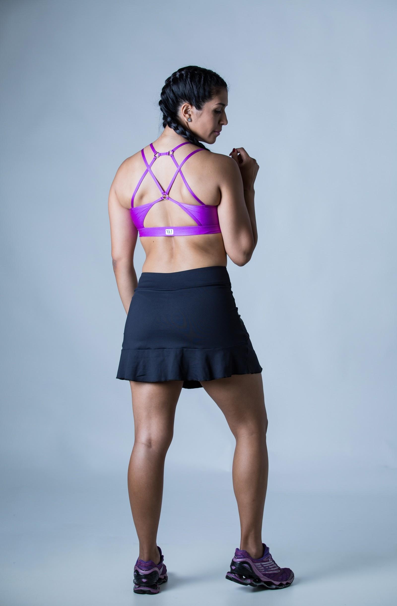 Top Modern Roxo, Coleção Plenitude - NKT Fitwear Moda Fitness