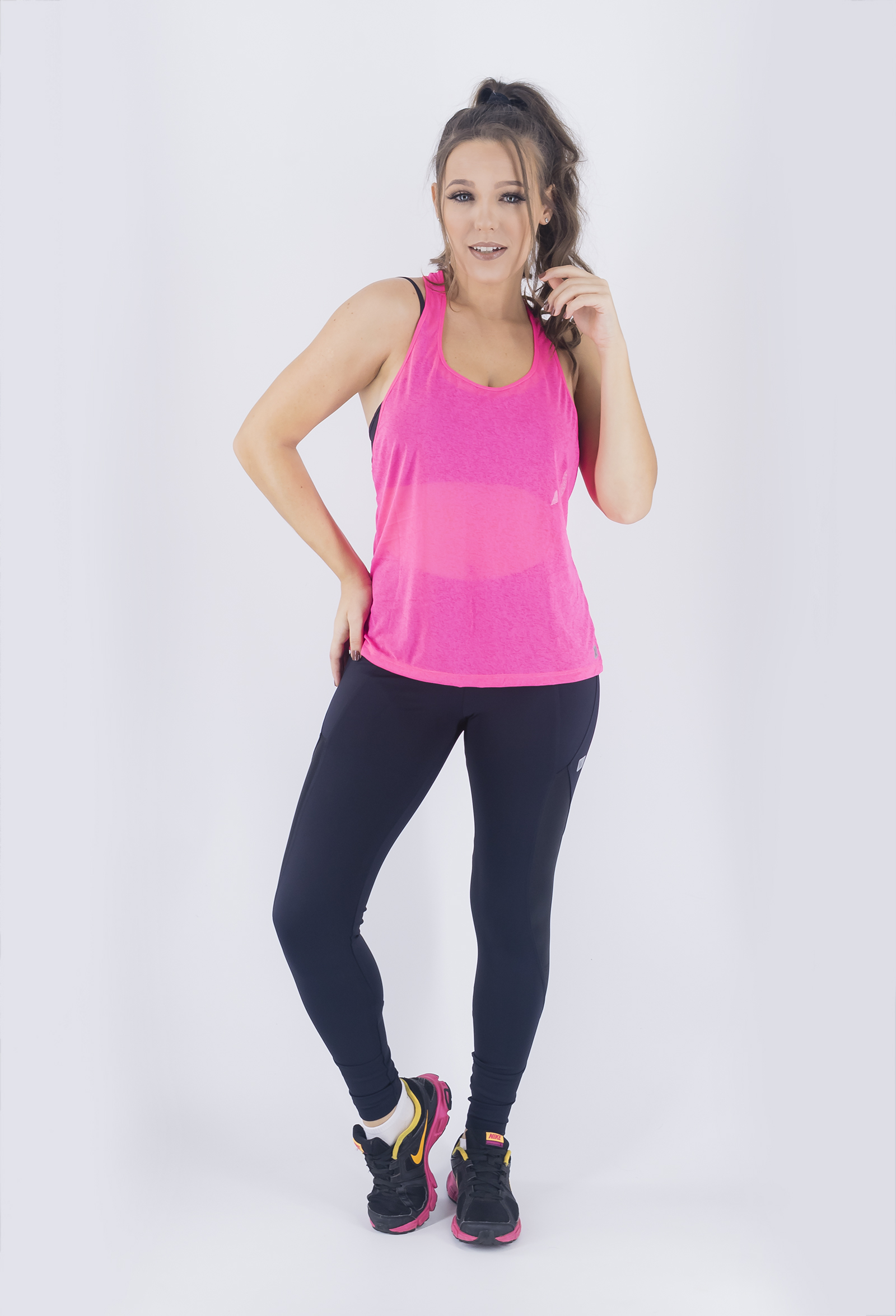 Regata Cava Fabulous Pink New, Coleção Just For You - NKT Fitwear Moda Fitness