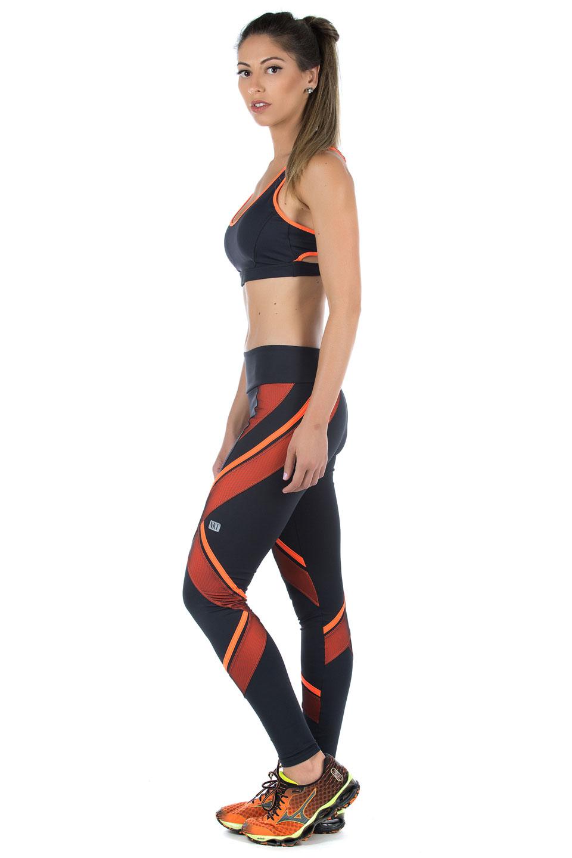 Legging Power Full Laranja, Coleção Mulheres Reais - NKT Fitwear Moda Fitness