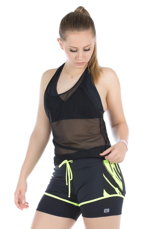 Shorts Adventure Neon, Coleção Mulheres Reais - NKT Fitwear Moda Fitness