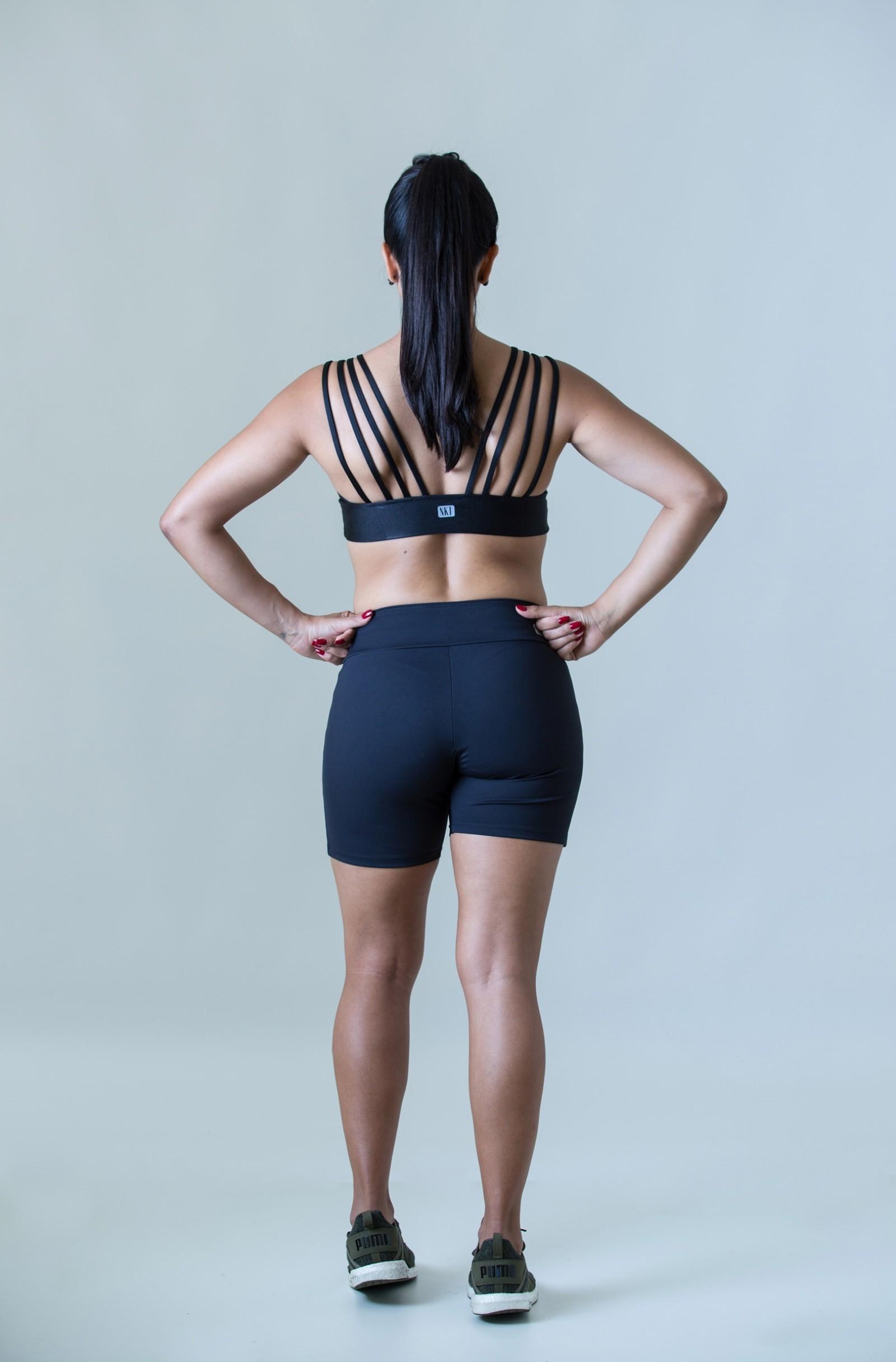 Top Fun Preto Cirré, Coleção Plenitude - NKT Fitwear Moda Fitness