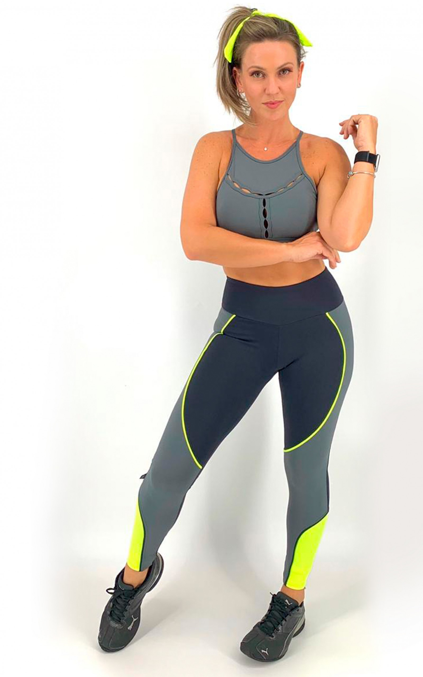 Legging Circle Chumbo, Coleção Move Your Body - NKT Fitwear Moda Fitness
