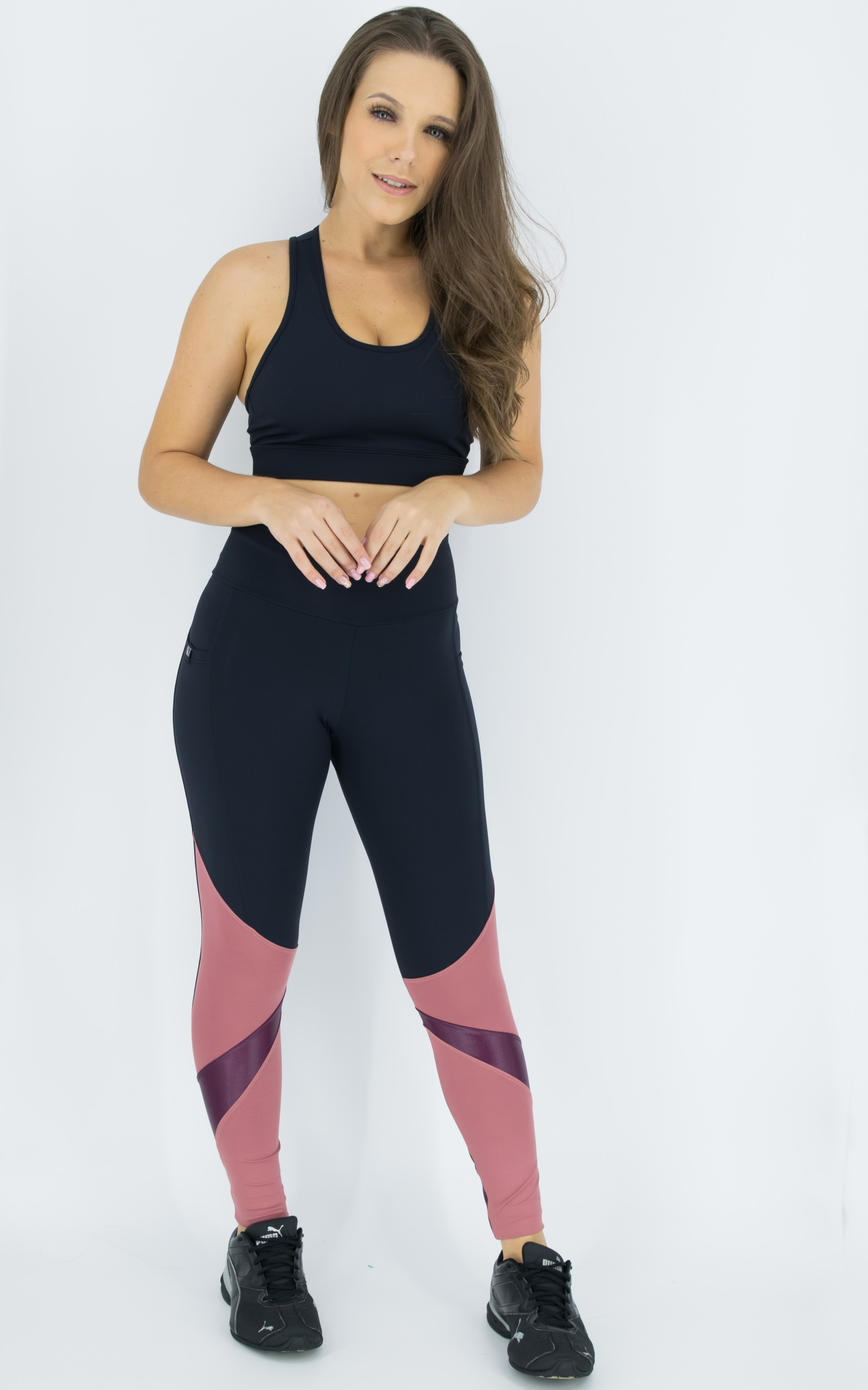 Top Pratic Preto, Coleção Move Your Body - NKT Fitwear Moda Fitness