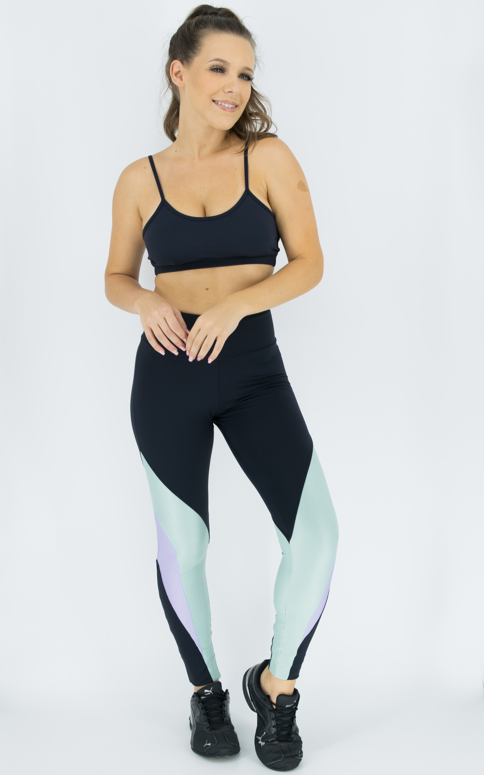 Legging Arrow Lilás, Coleção Move Your Body - NKT Fitwear Moda Fitness