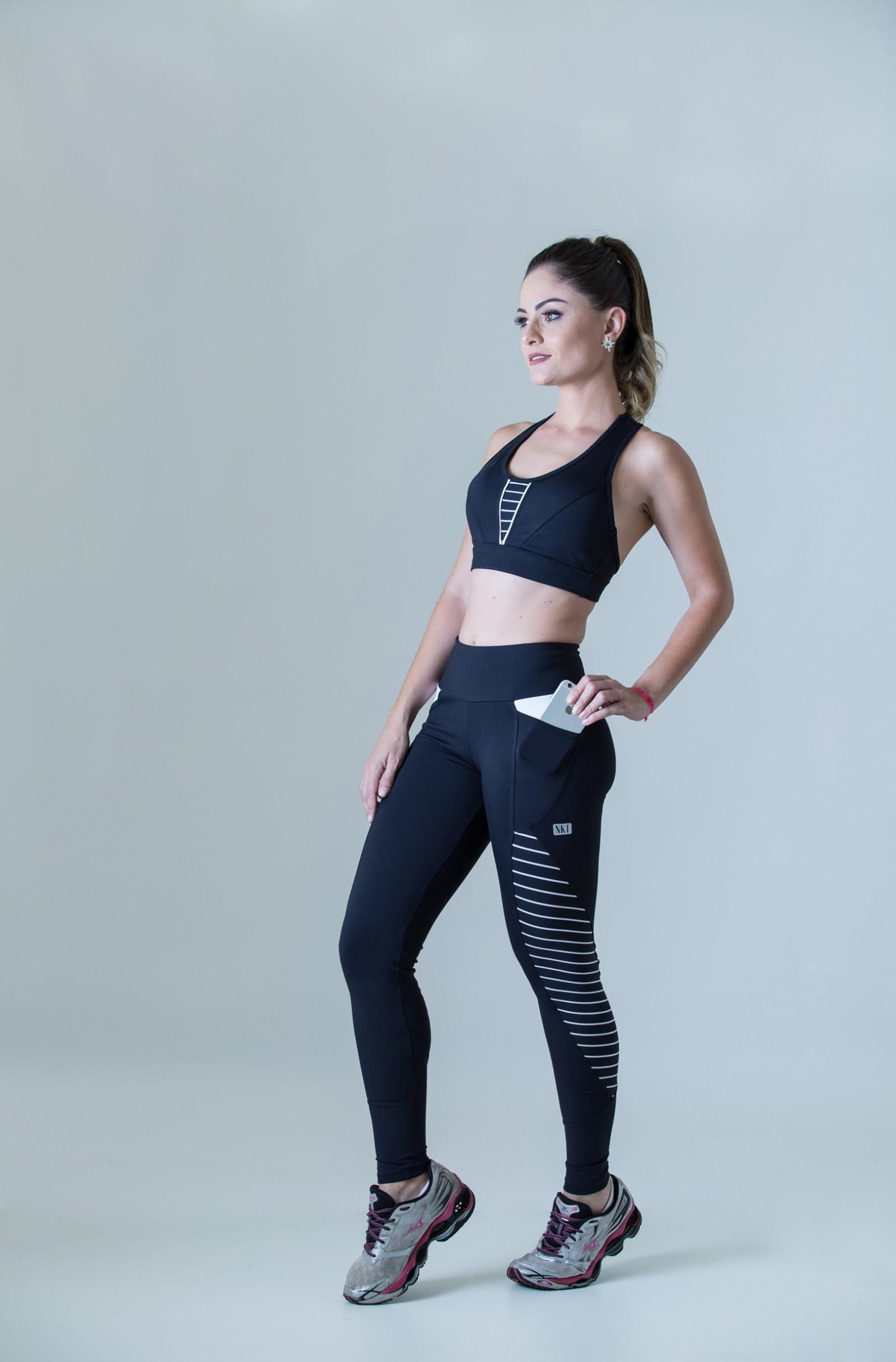 Top Freedom Listrado, Coleção Plenitude - NKT Fitwear Moda Fitness