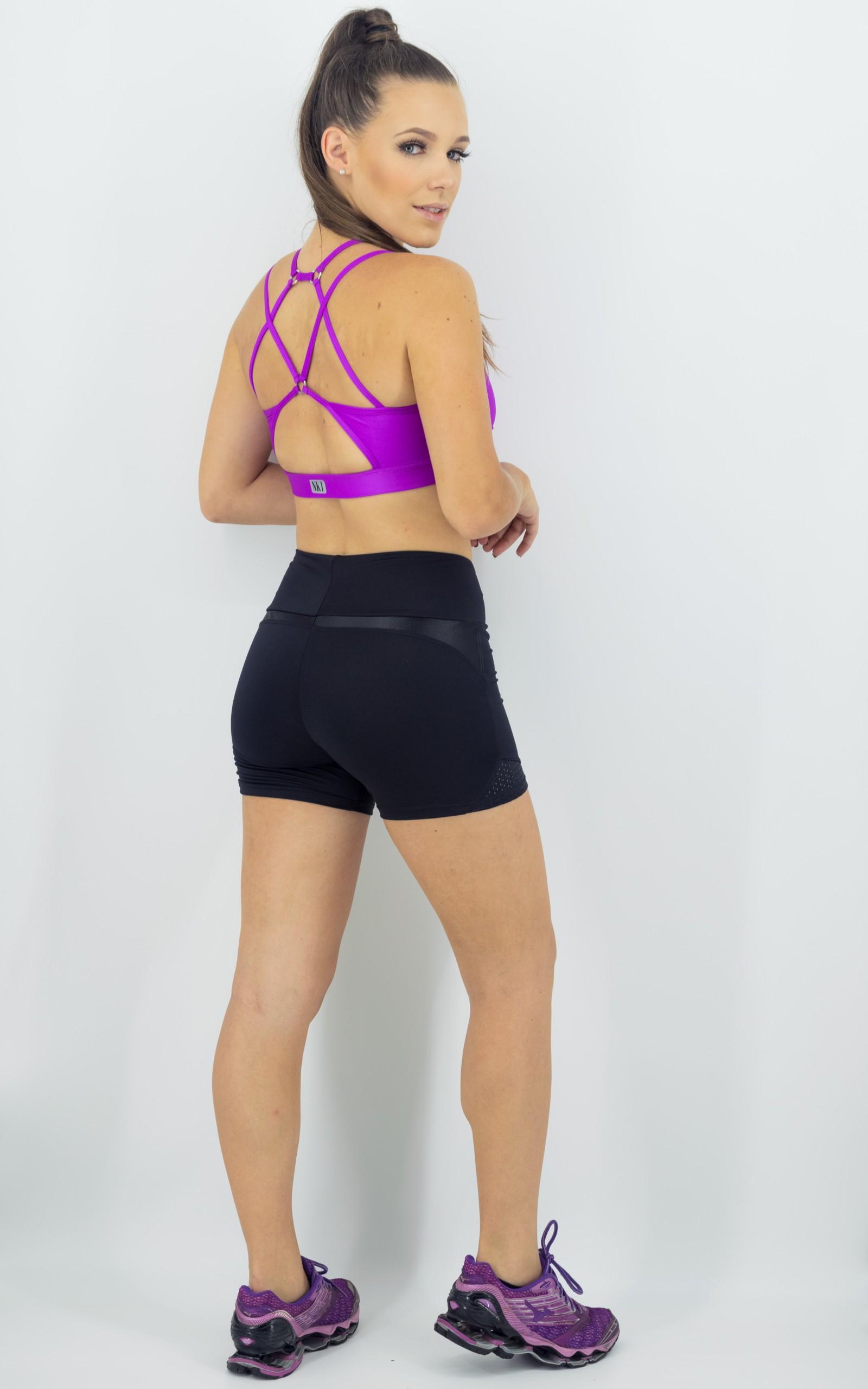 Top Modern Roxo, Coleção Move Your Body - NKT Fitwear Moda Fitness