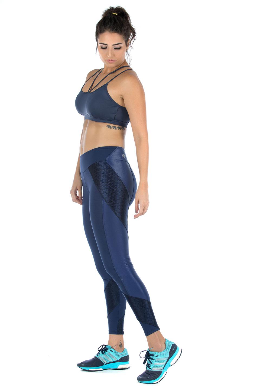 Legging Modern Marinho, Coleção Mulheres Reais - NKT Fitwear Moda Fitness