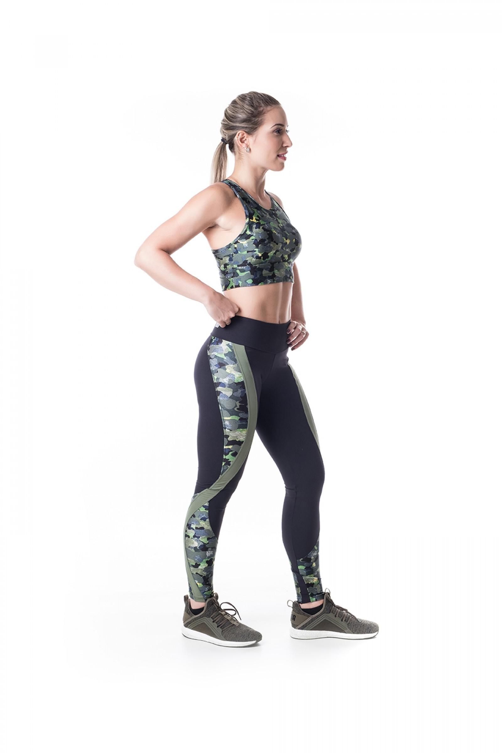 Legging Lead Camuflado, Coleção Challenge - NKT Fitwear Moda Fitness