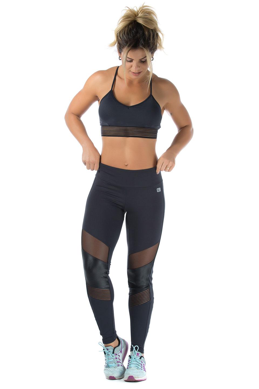 Top Objective Preto, Coleção Mulheres Reais - NKT Fitwear Moda Fitness