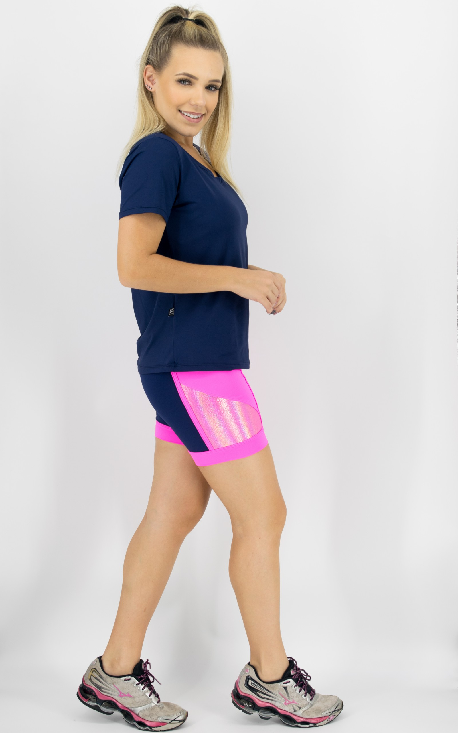 Baby Look Spice Dry Marinho, Coleção Move Your Body - NKT Fitwear Moda Fitness
