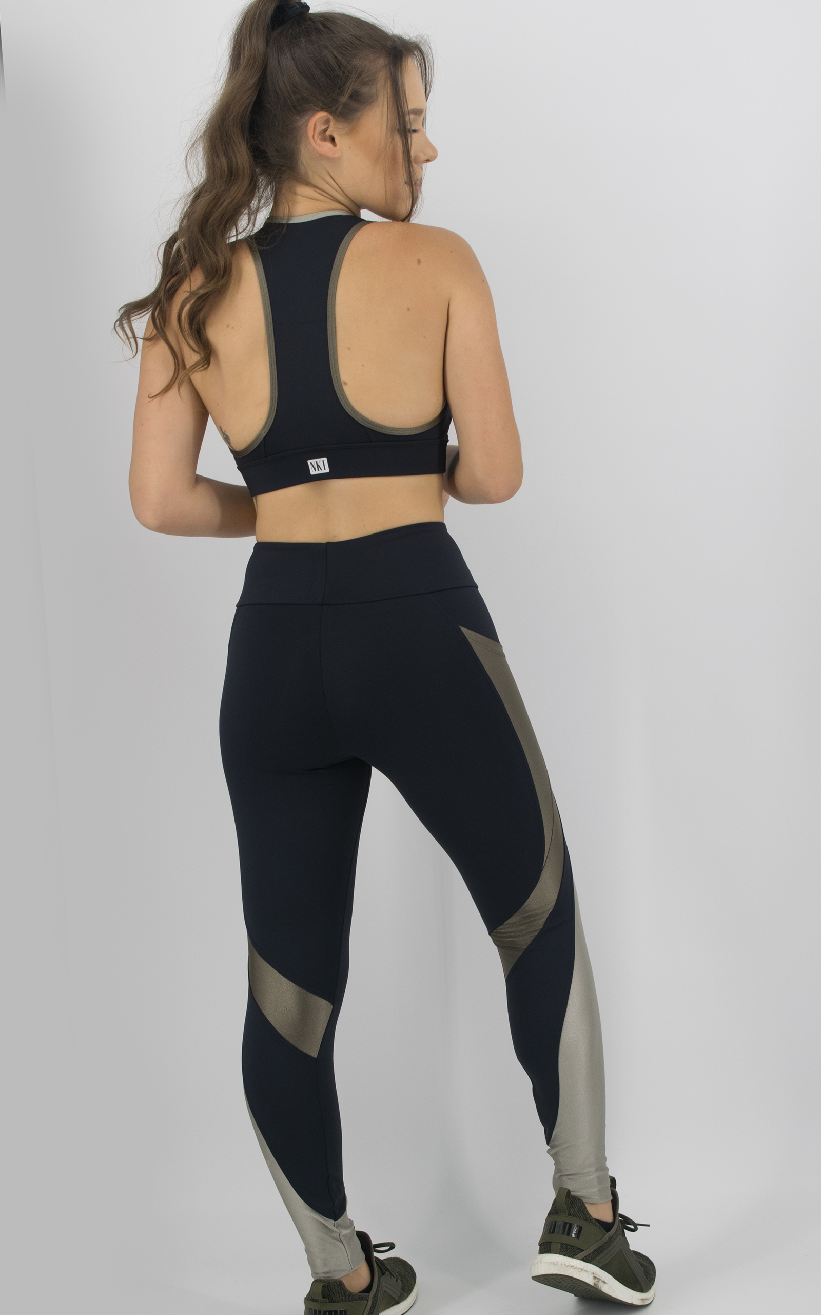 Legging Expression Two Champanhe, Coleção Move Your Body - NKT Fitwear Moda Fitness
