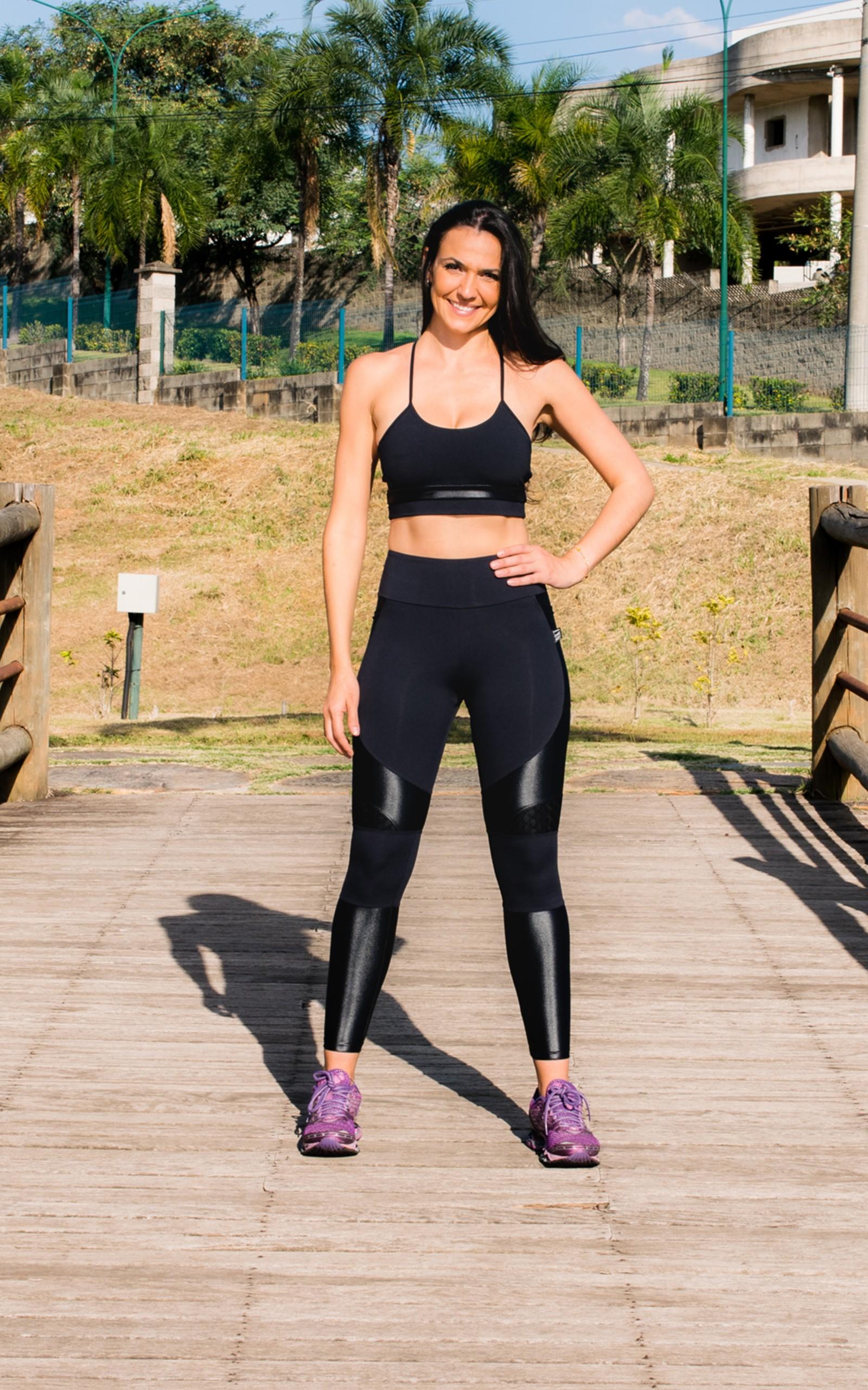 Legging Spring Preta, Coleção YOURSELF - NKT Fitwear Moda Fitness