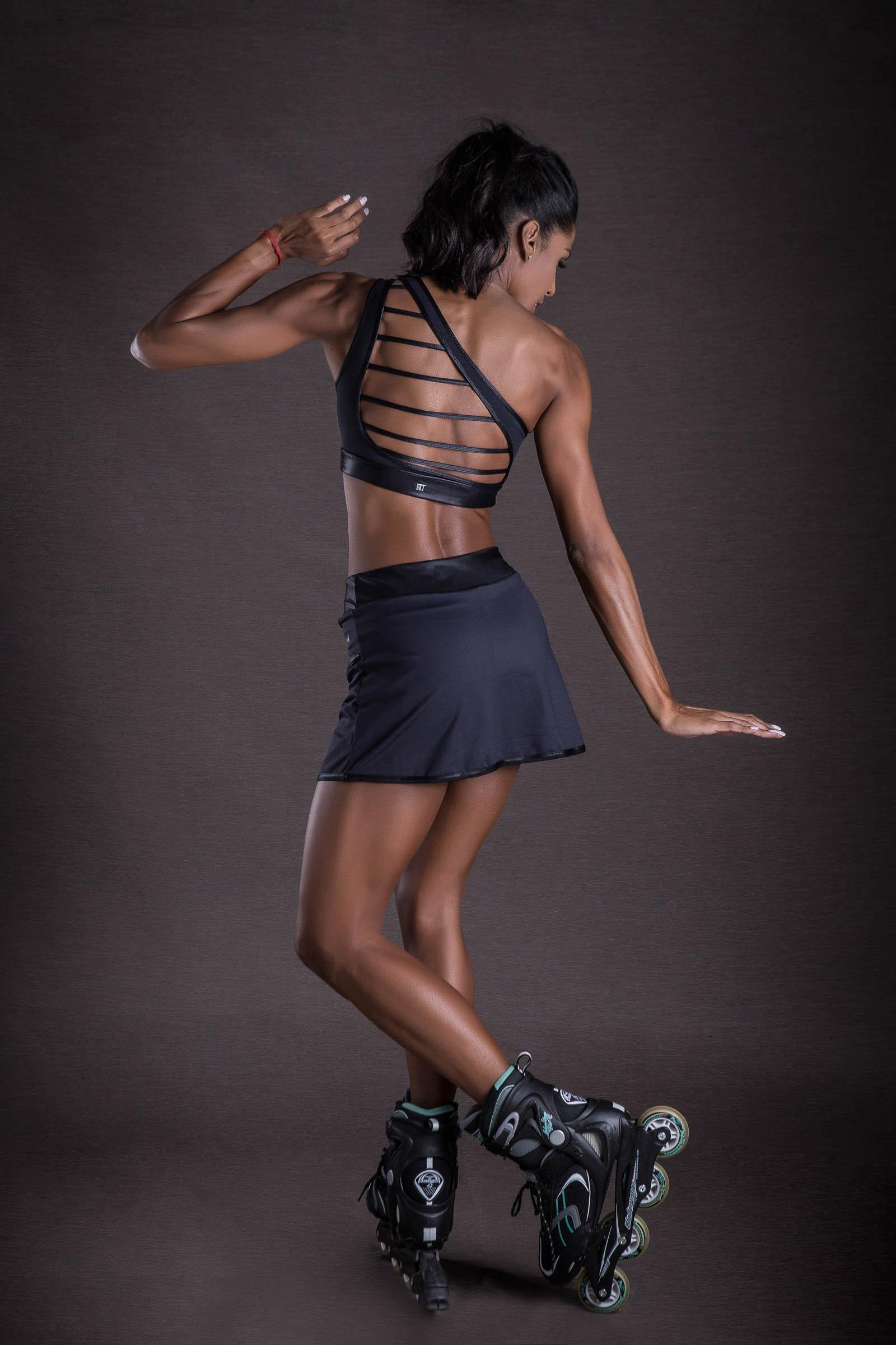 Saia Shorts Get Preto, Coleção You can - NKT Fitwear Moda Fitness