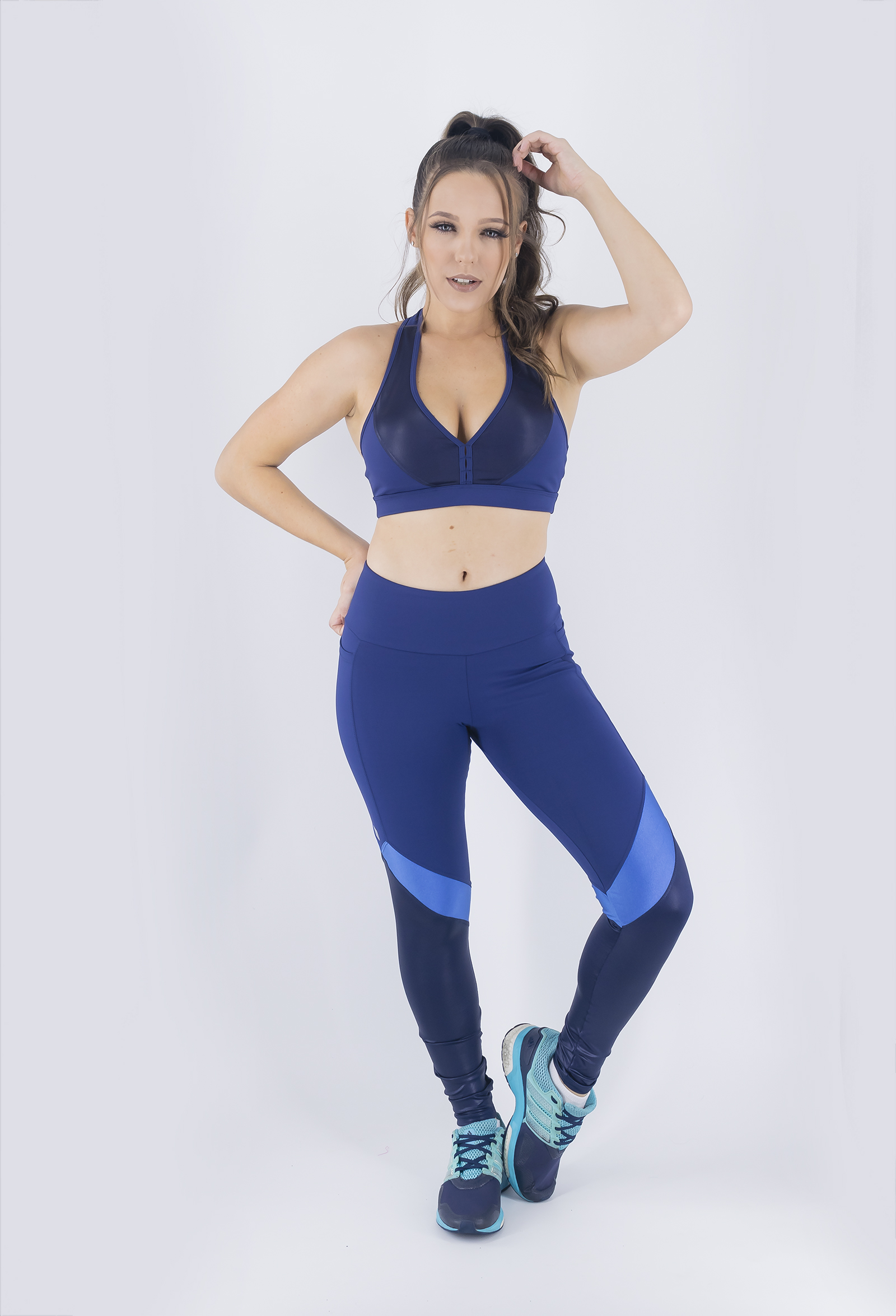 Top Set Marinho, Coleção Just For You - NKT Fitwear Moda Fitness