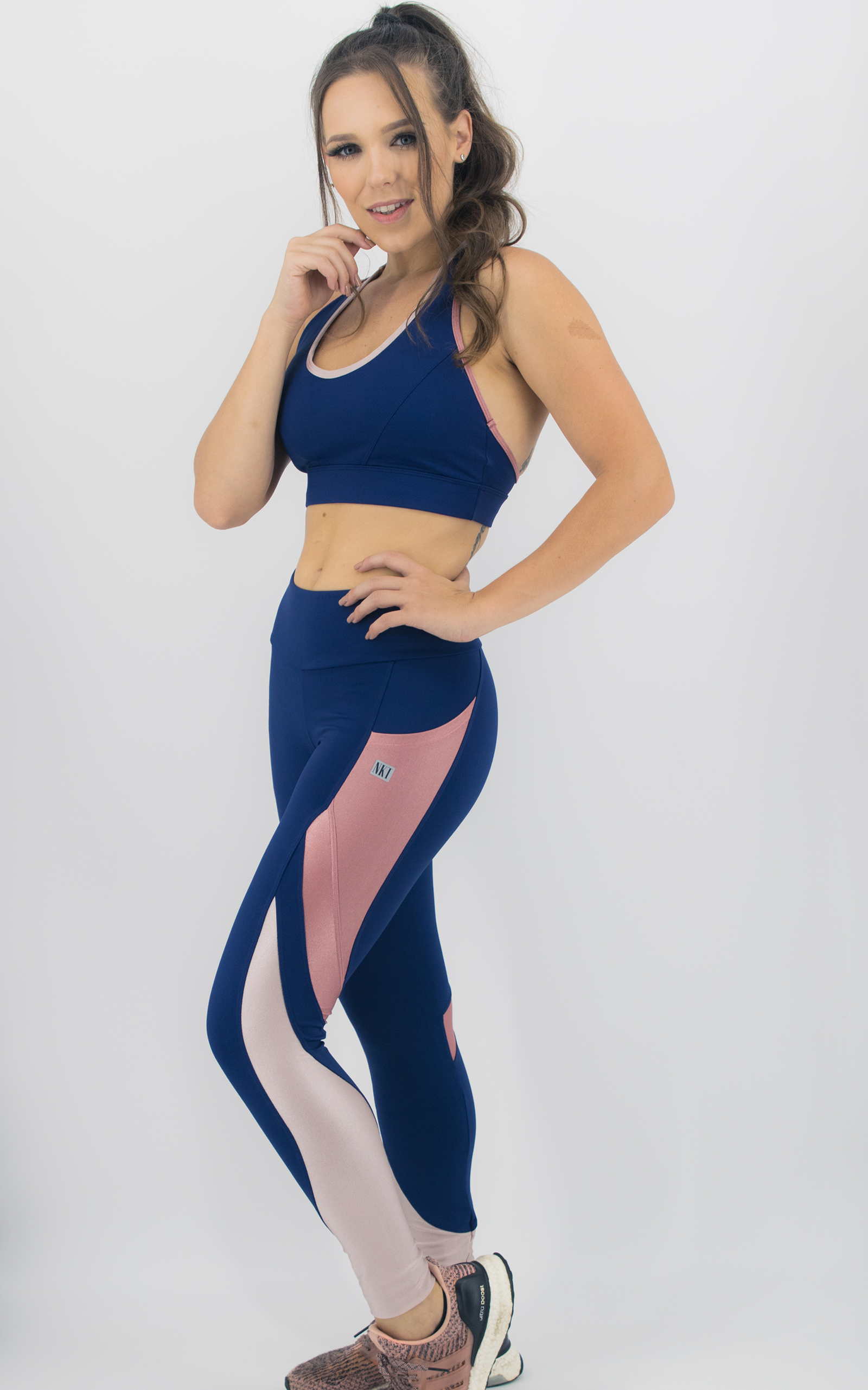 Legging Expression Two Coral, Coleção Move Your Body - NKT Fitwear Moda Fitness