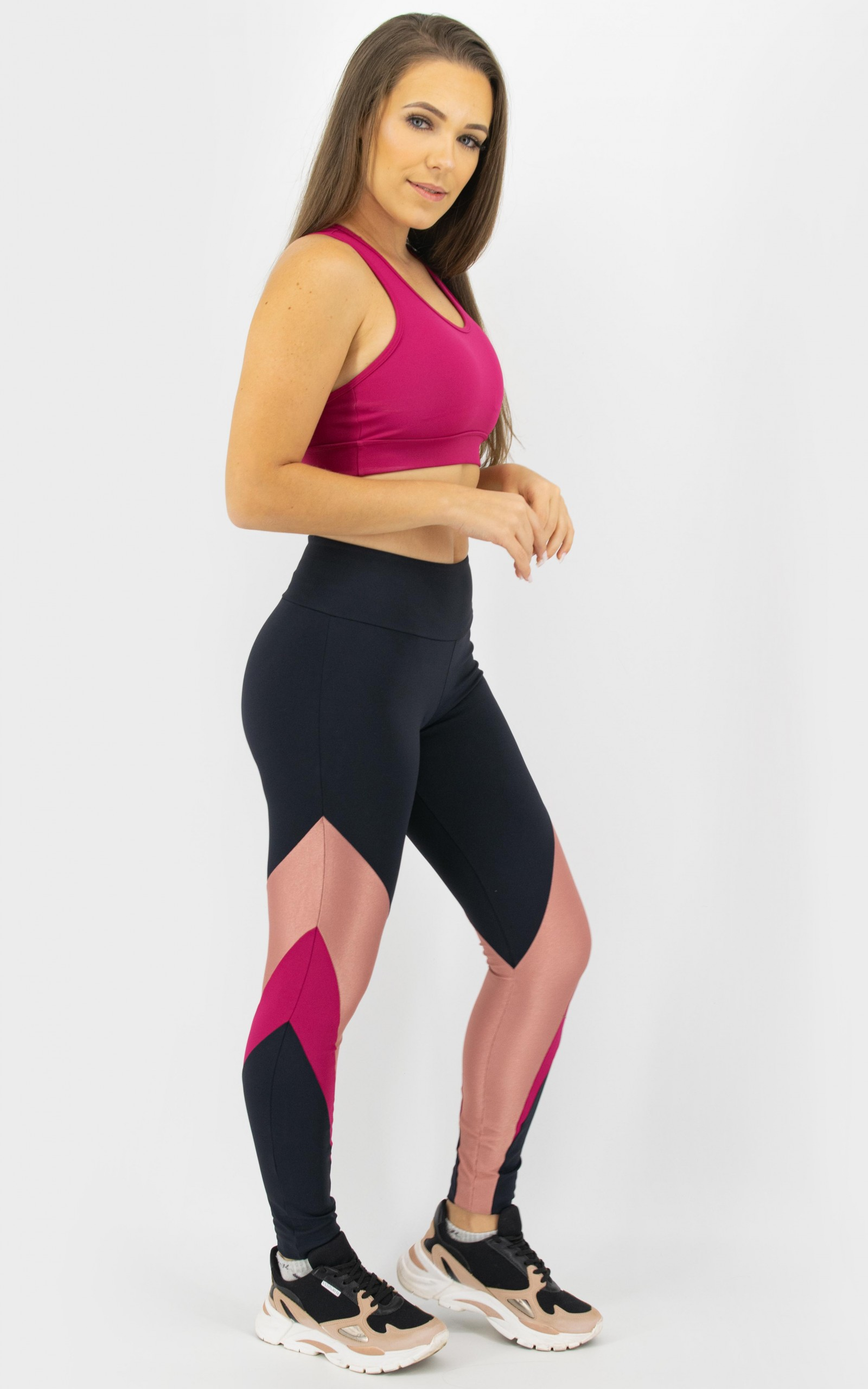 Legging Arrow Marsala, Coleção Move Your Body - NKT Fitwear Moda Fitness