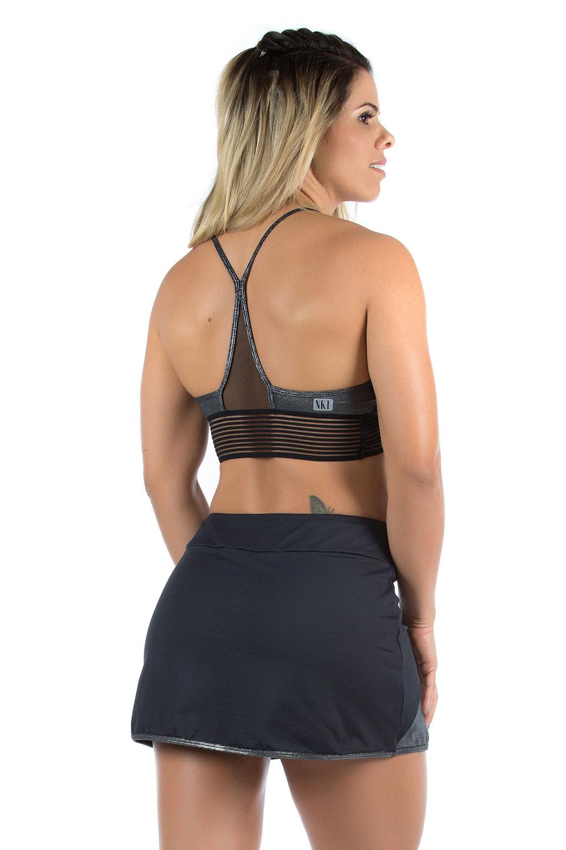 Top Objective Prata, Coleção Mulheres Reais - NKT Fitwear Moda Fitness