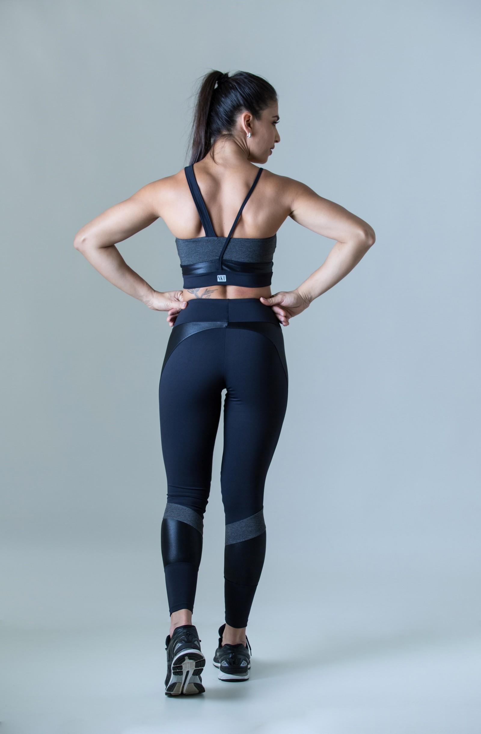 Top Fullness Mescla Escuro, Coleção Plenitude - NKT Fitwear Moda Fitness