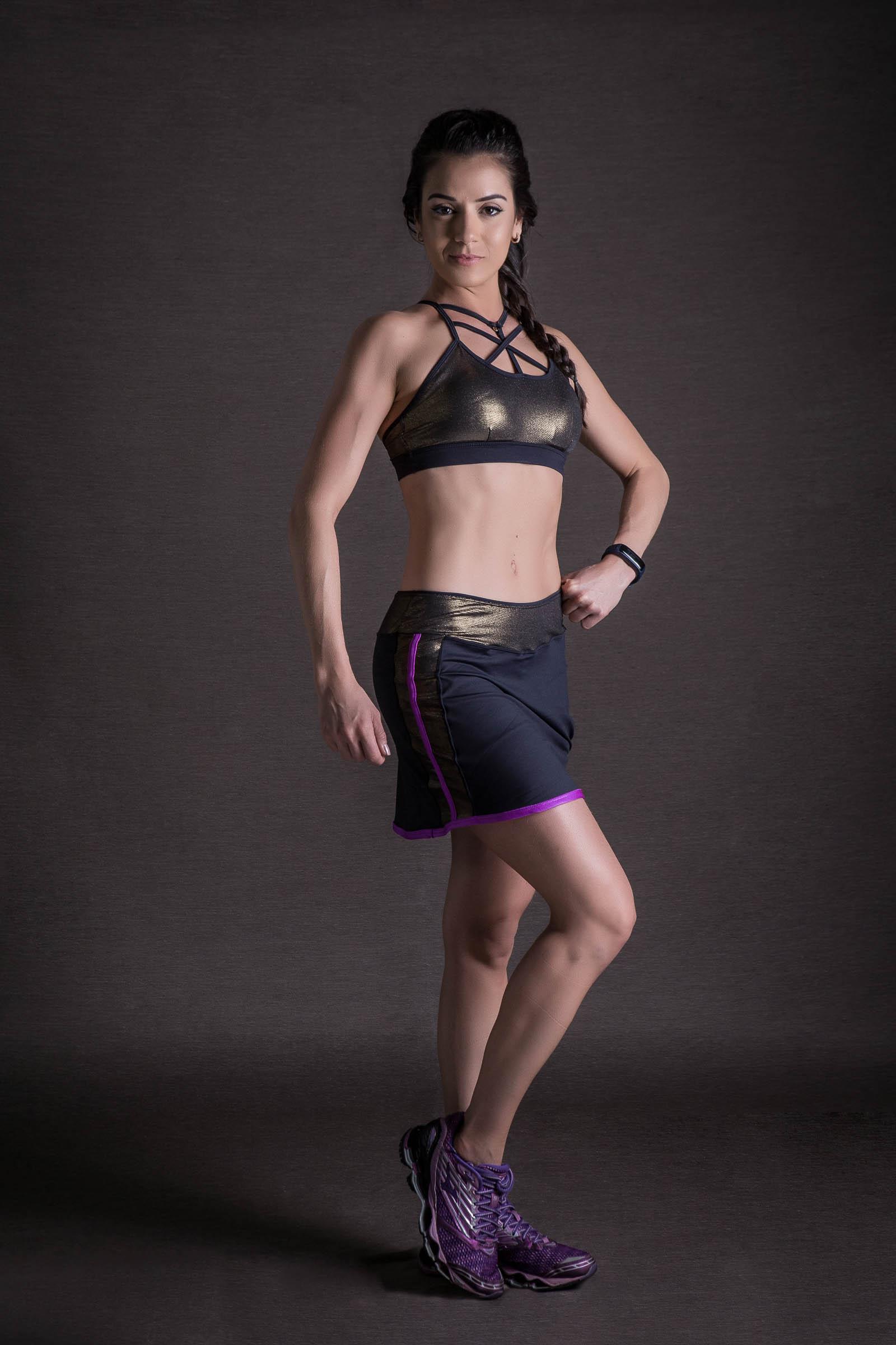 Saia Shorts Can Dourado, Coleção You can - NKT Fitwear Moda Fitness
