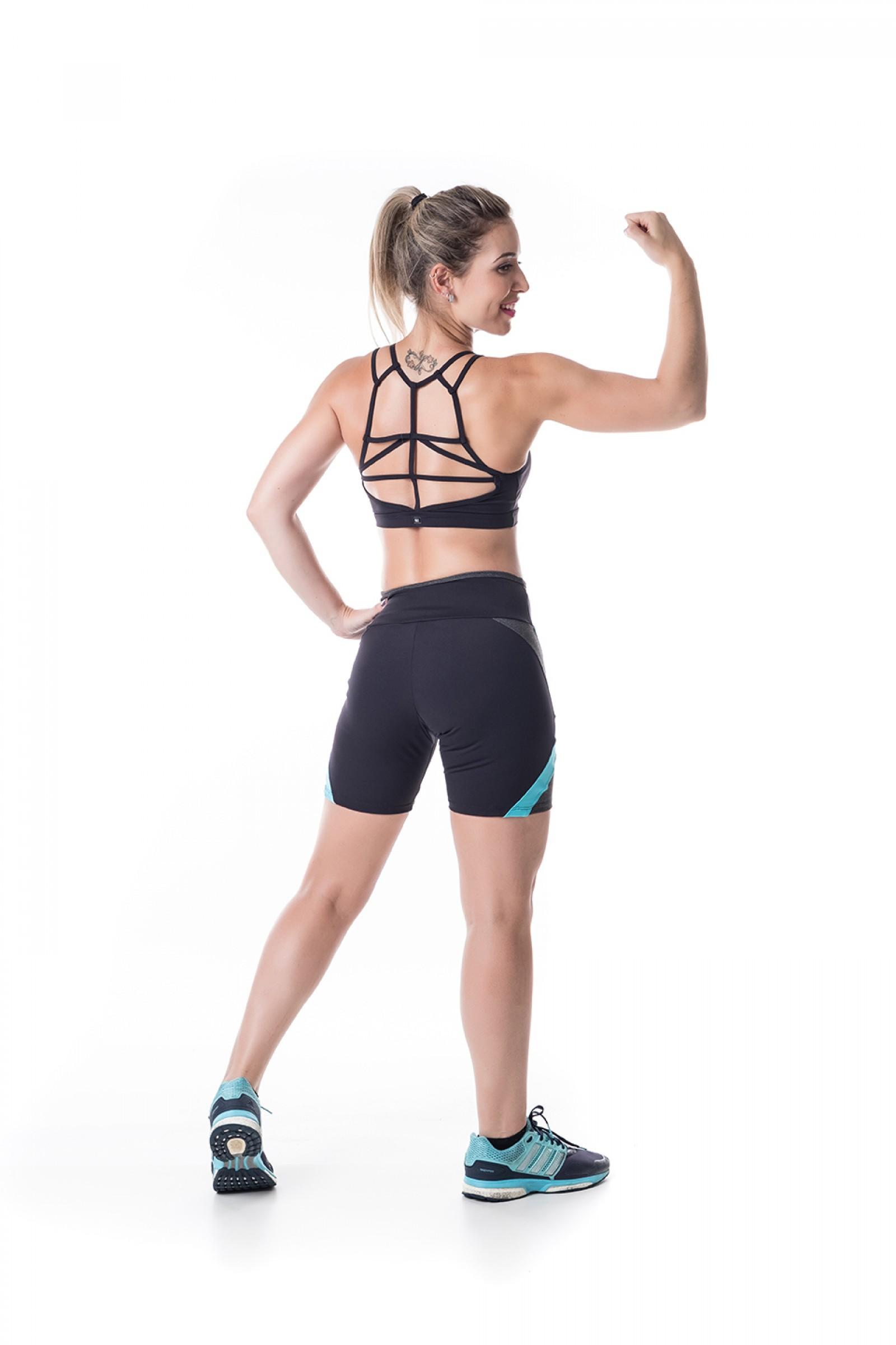 Top Conceito Preto, Coleção Challenge - NKT Fitwear Moda Fitness