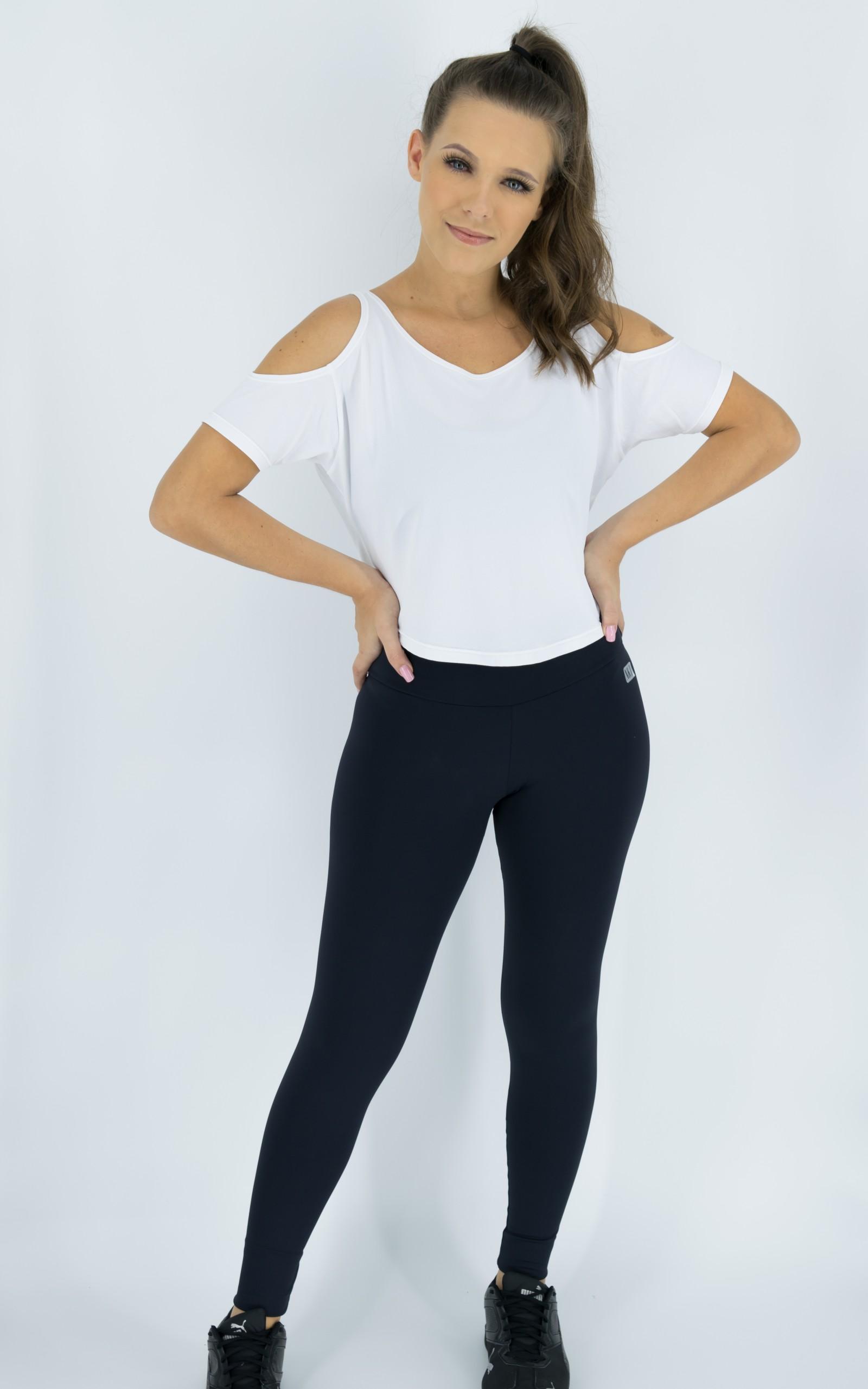 Blusa Like Branca, Coleção Move Your Body - NKT Fitwear Moda Fitness