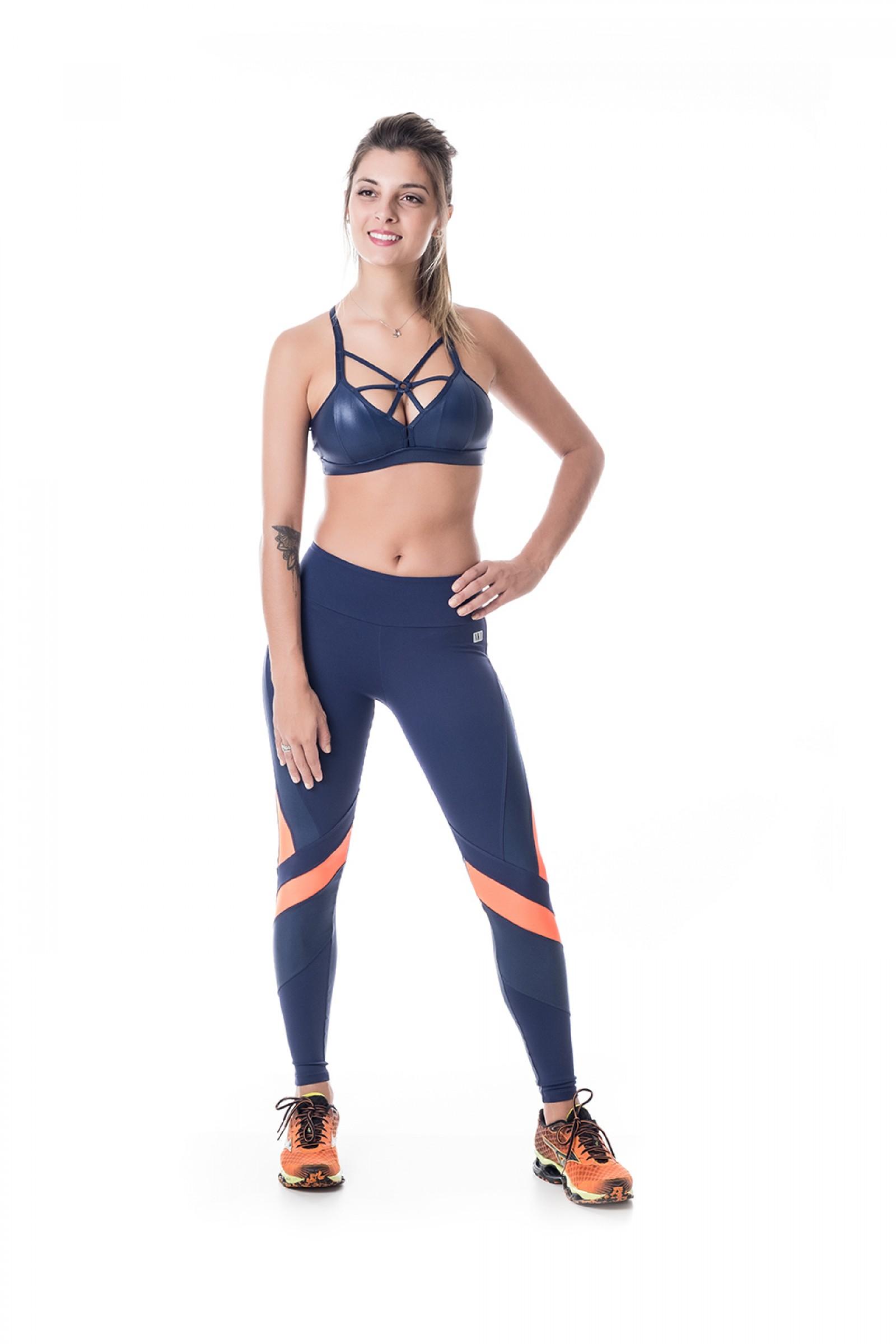 Legging Bring Marinho, Coleção Challenge - NKT Fitwear Moda Fitness