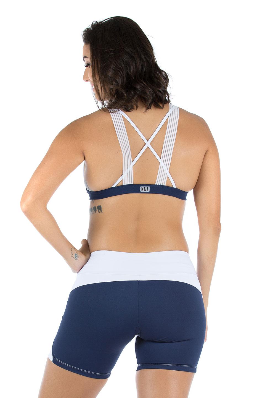 Shorts Agile Marinho, Coleção Mulheres Reais - NKT Fitwear Moda Fitness
