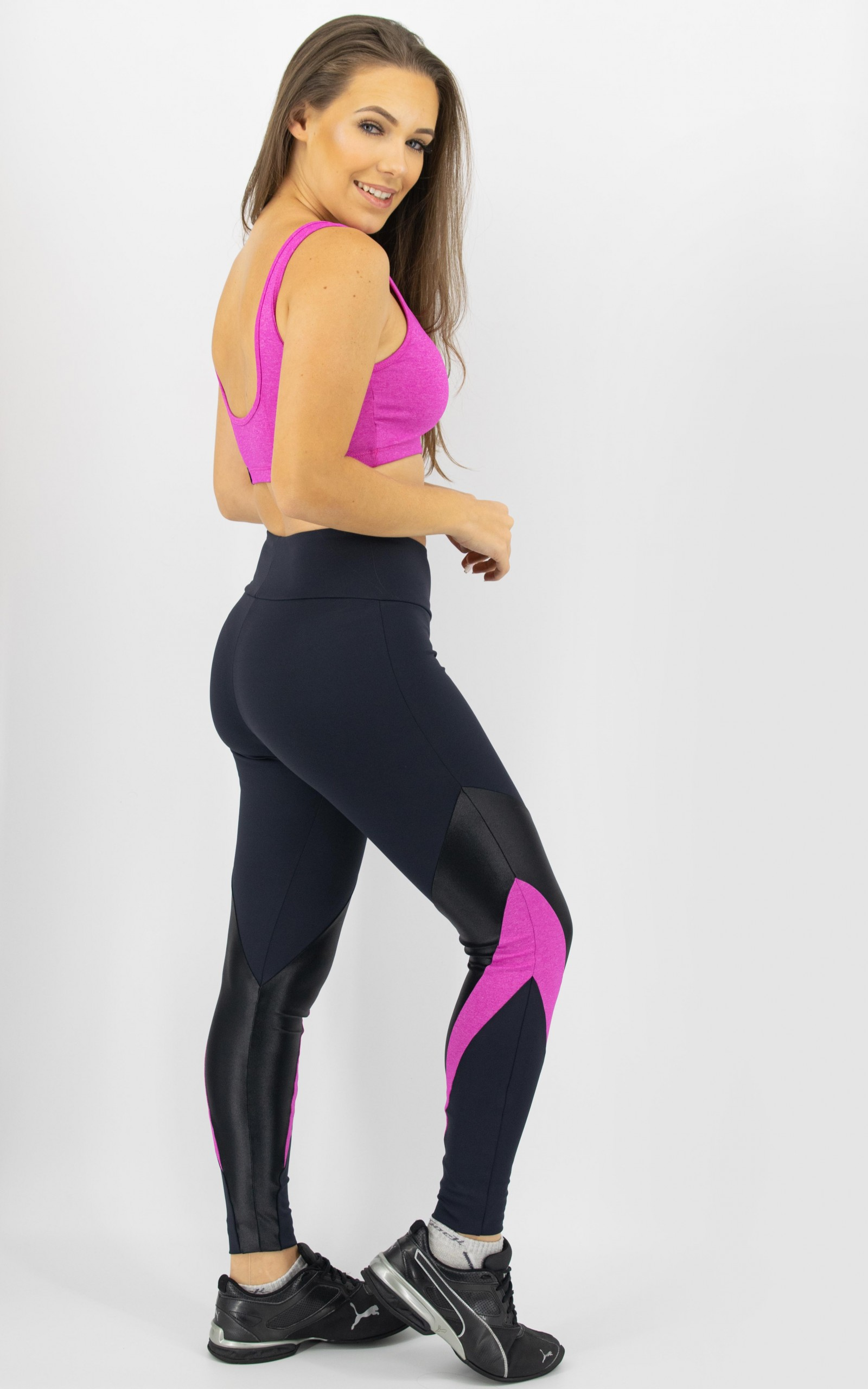 Legging Arrow Pink, Coleção Move Your Body - NKT Fitwear Moda Fitness