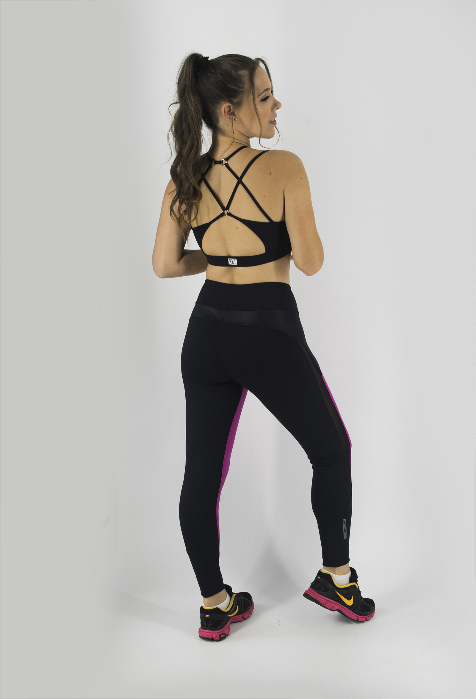 Top Modern Preto, Coleção Just For You - NKT Fitwear Moda Fitness